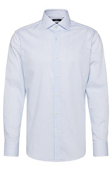Gestreiftes Regular-Fit Hemd aus Baumwolle: 'Gordon', Hellblau
