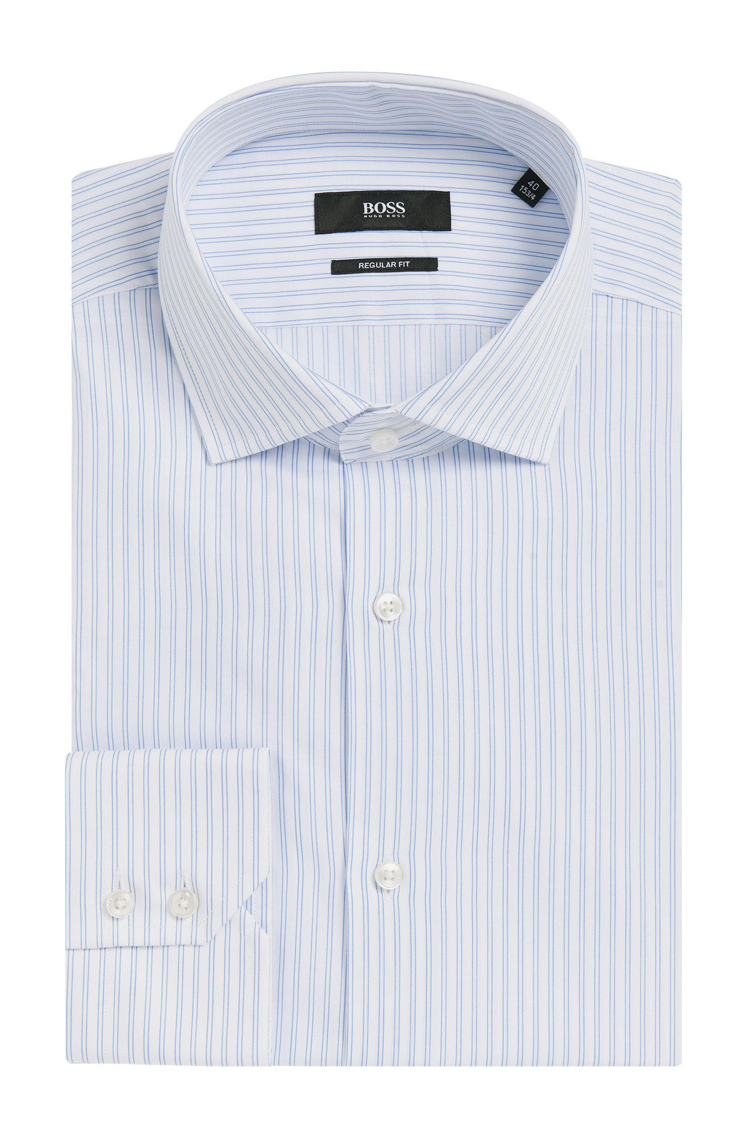 Gestreiftes Regular-Fit Hemd aus Baumwolle: 'Gordon'