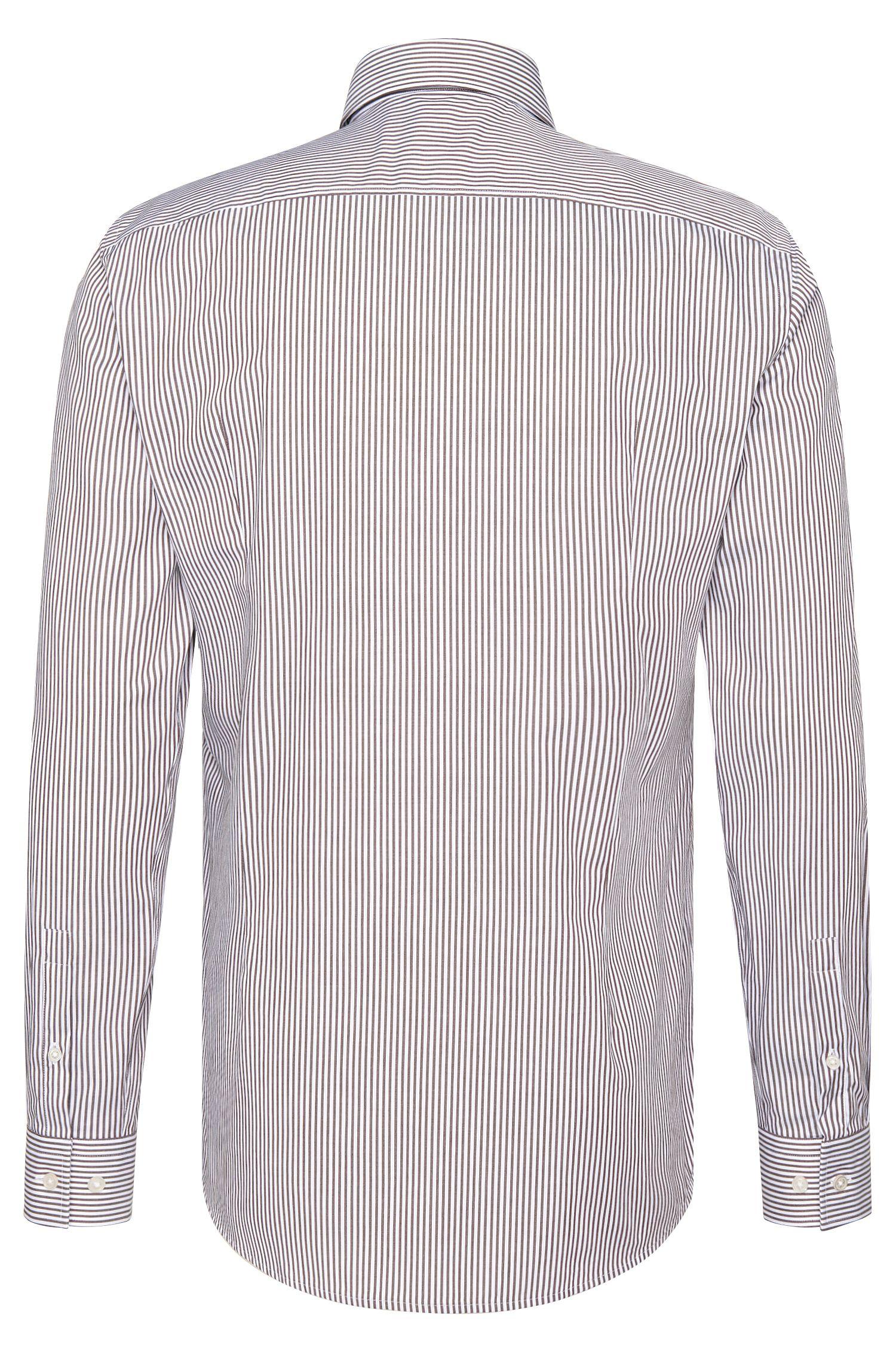 Gestreiftes Slim-Fit Hemd aus Baumwolle: 'Ismar'