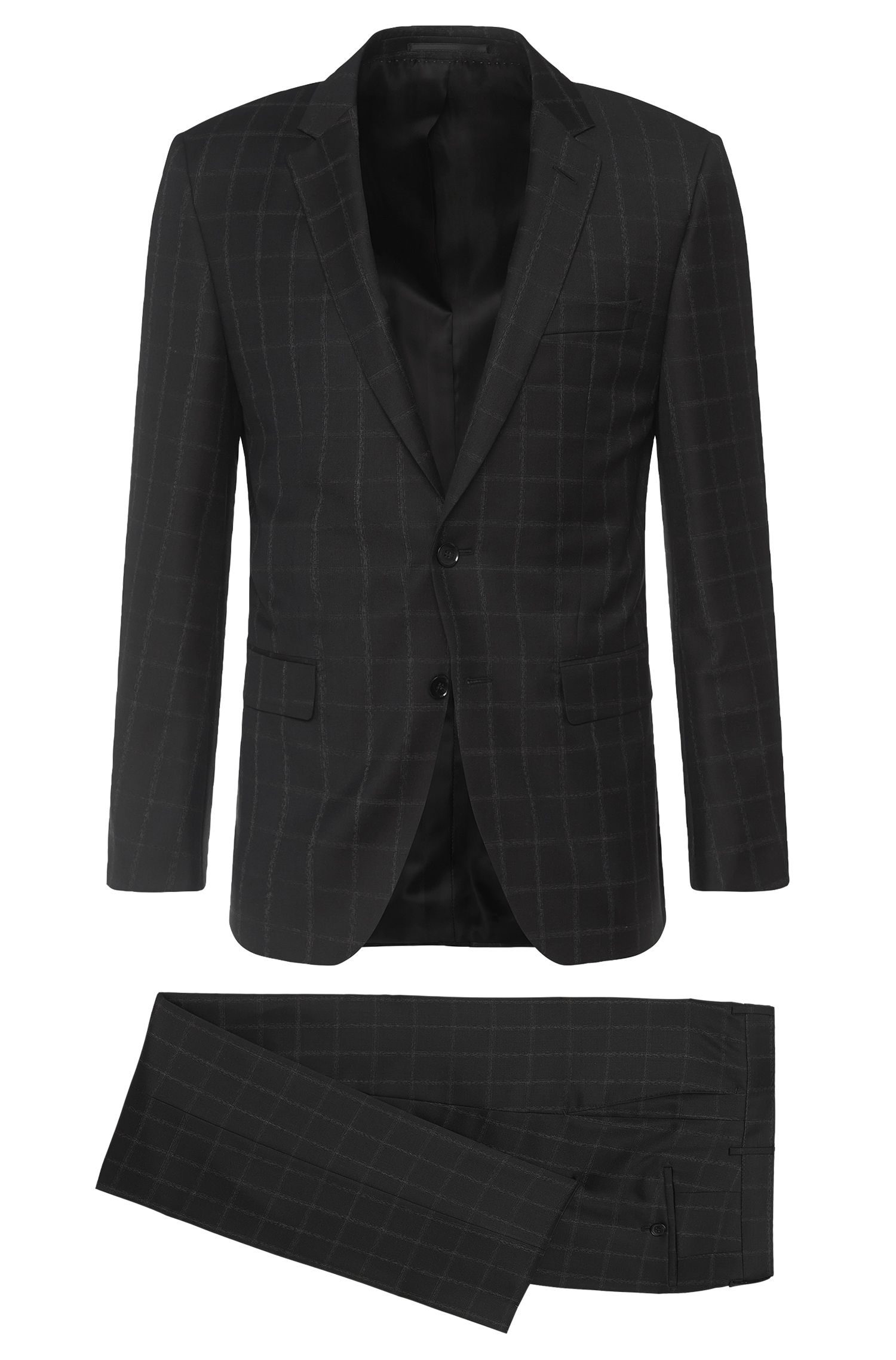 Slim-fit Tailored suit in new wool: 'T-Harvers2/Glover1'