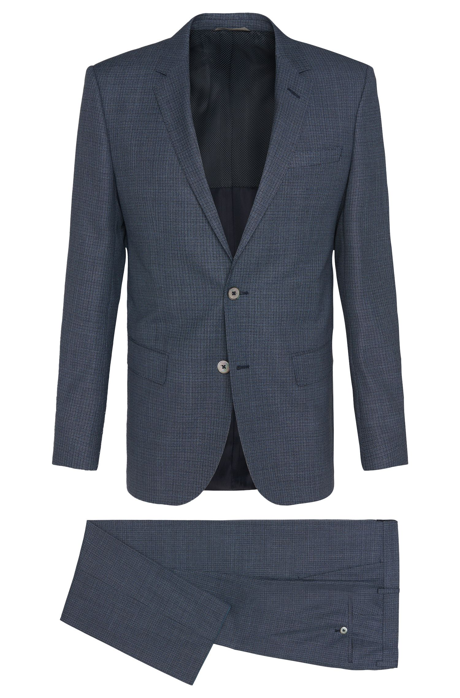 Textured slim-fit suit in new wool: 'Hutson3/Gander1'