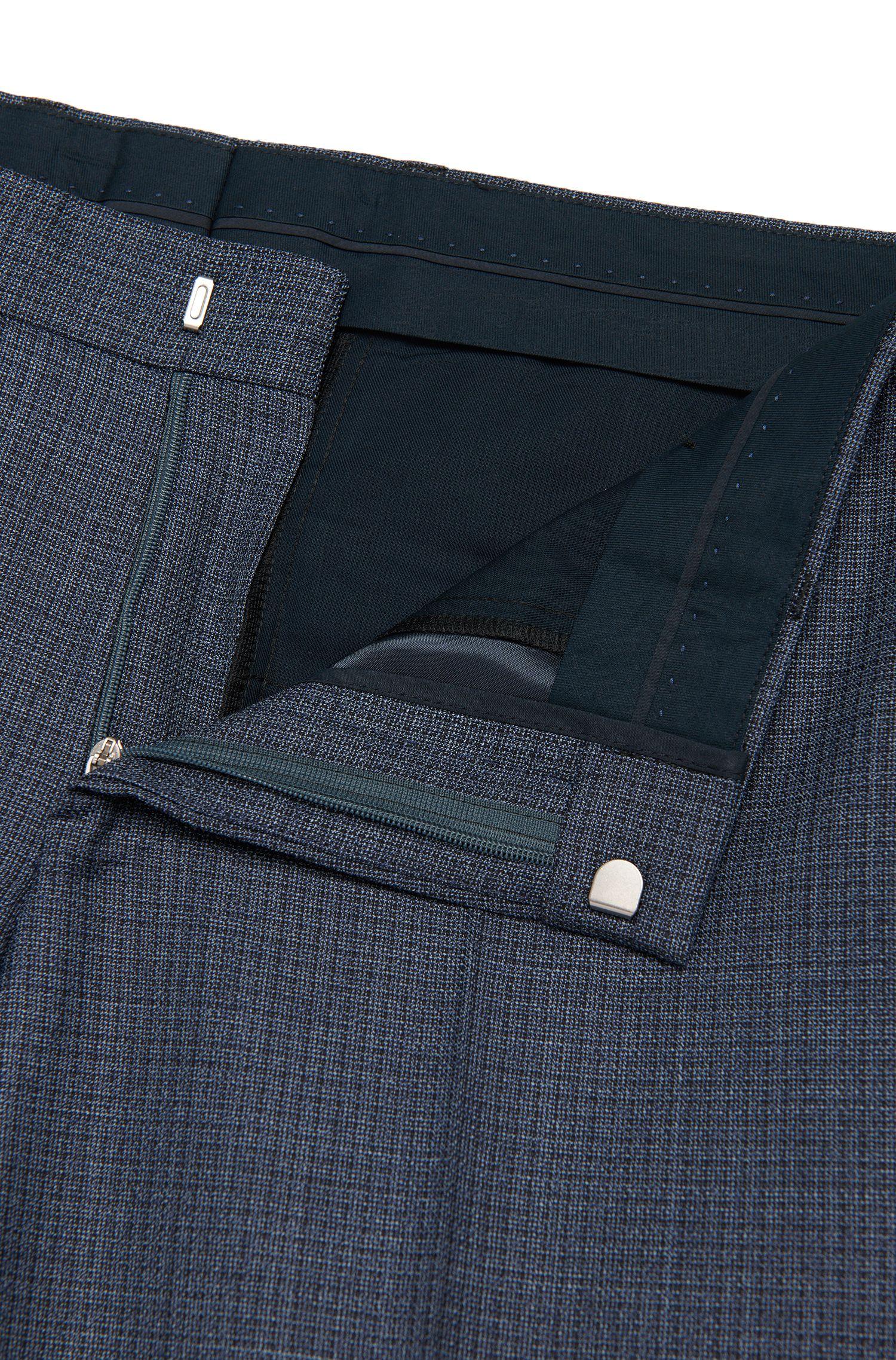Strukturierter Slim-Fit Anzug aus Schurwolle: 'Hutson3/Gander1'