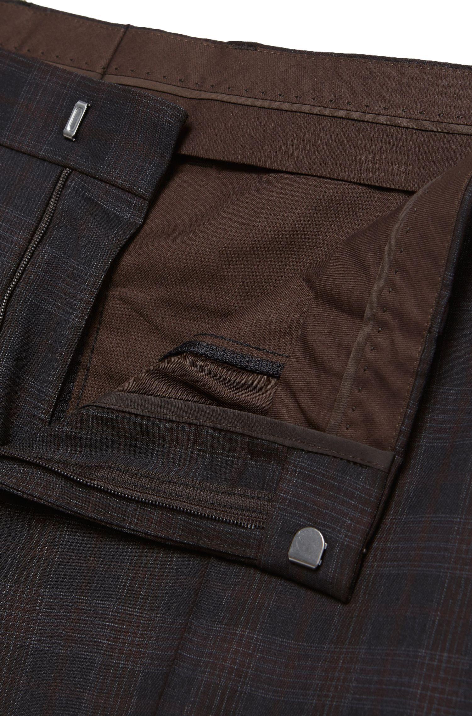 Karierter Slim-Fit Anzug aus reiner Schurwolle: 'Hutson3/Gander1'