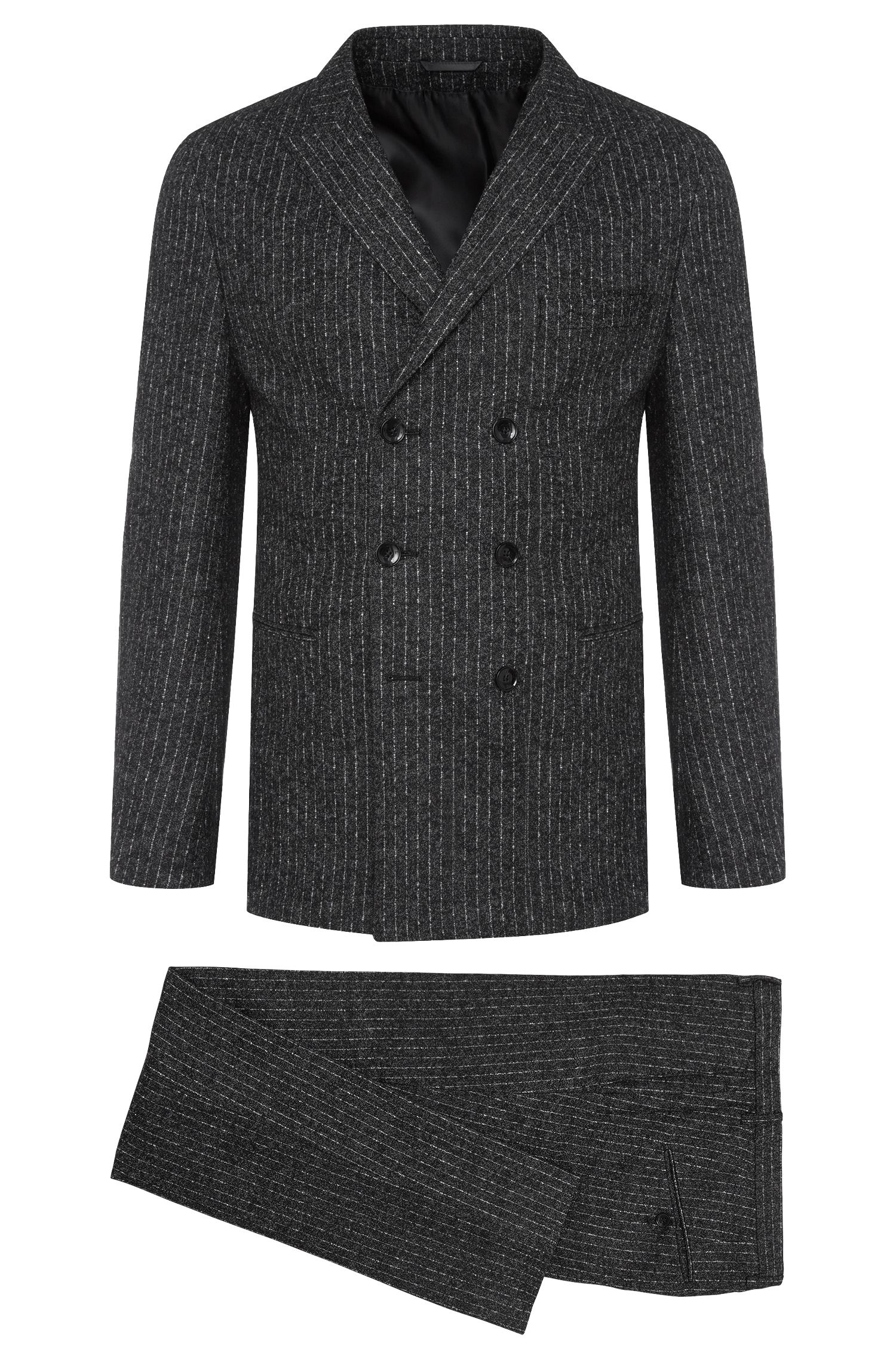 Costume Slim Fit Tailored en alpaga mélangé : « T-Noan/Baron »