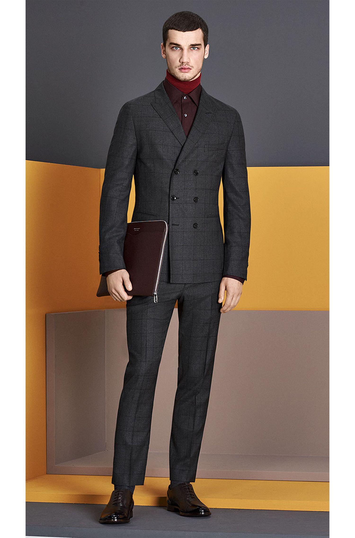 Slim-fit kostuum van scheerwol uit de Tailored-collectie: 'T-Noan/Baron'