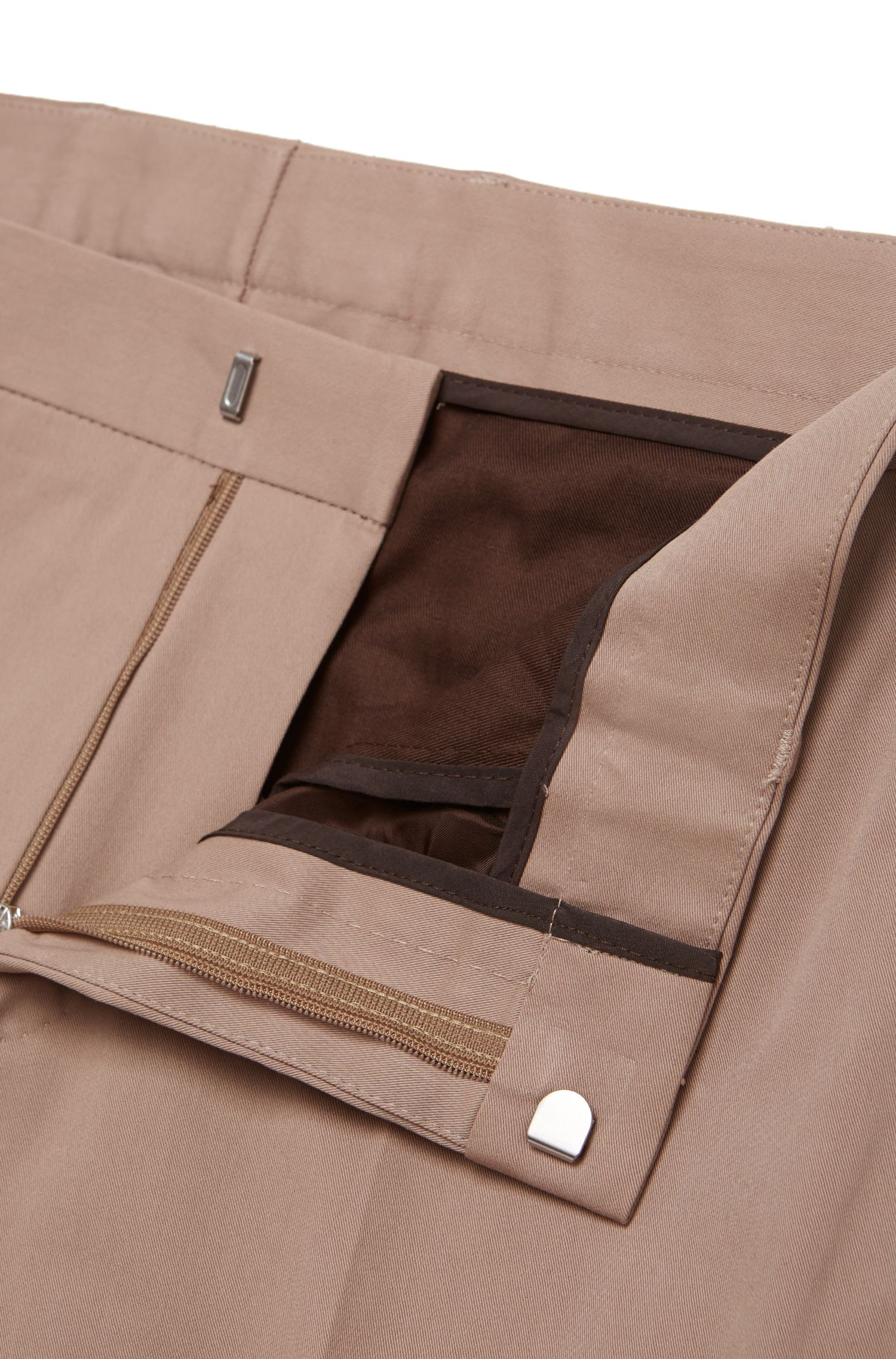 Slim-Fit Anzug aus Stretch-Baumwolle: 'Novan3/Ben'