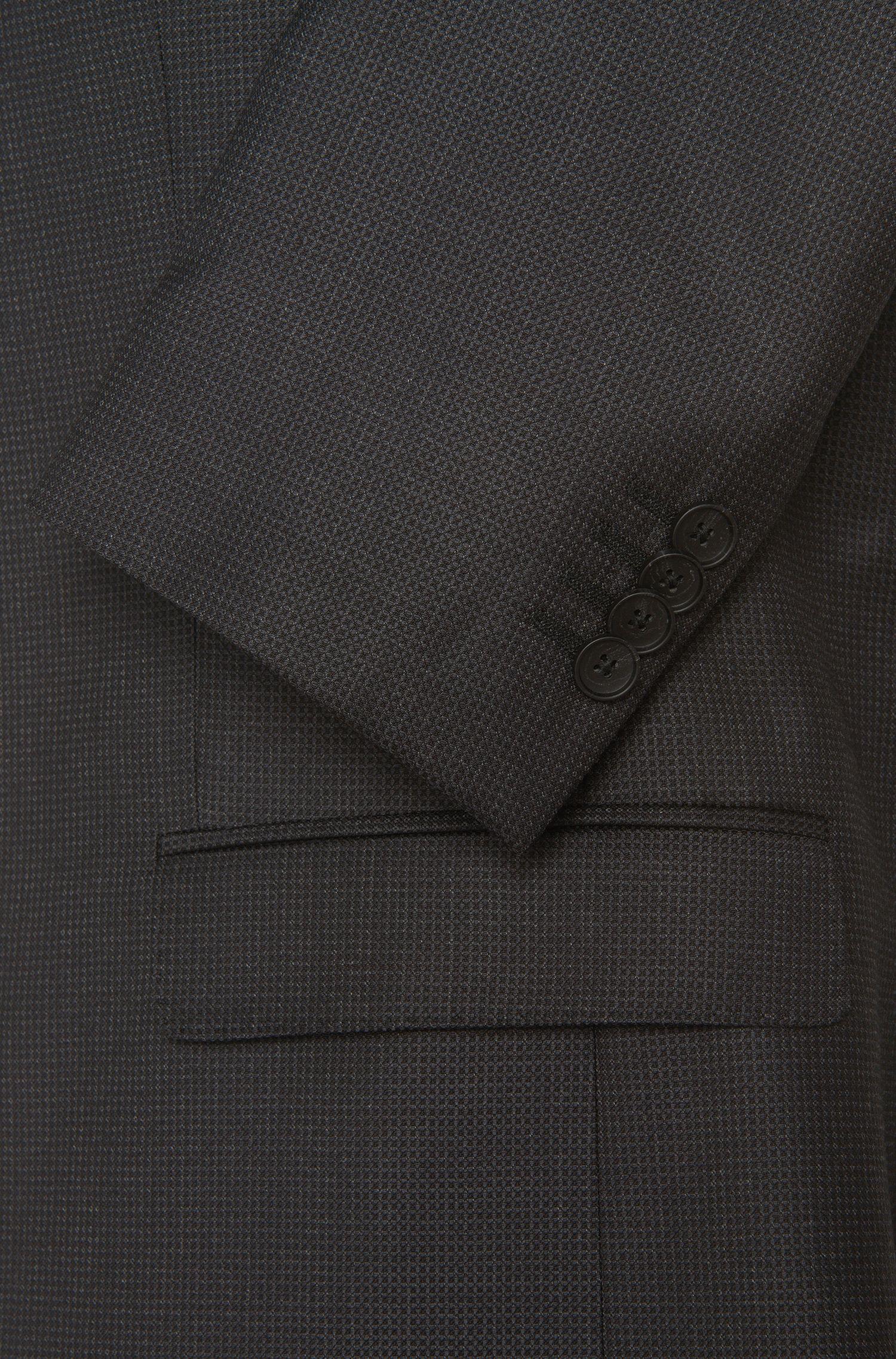 Costume Slim Fit en laine vierge à motif fin: «Nova3/Ben»