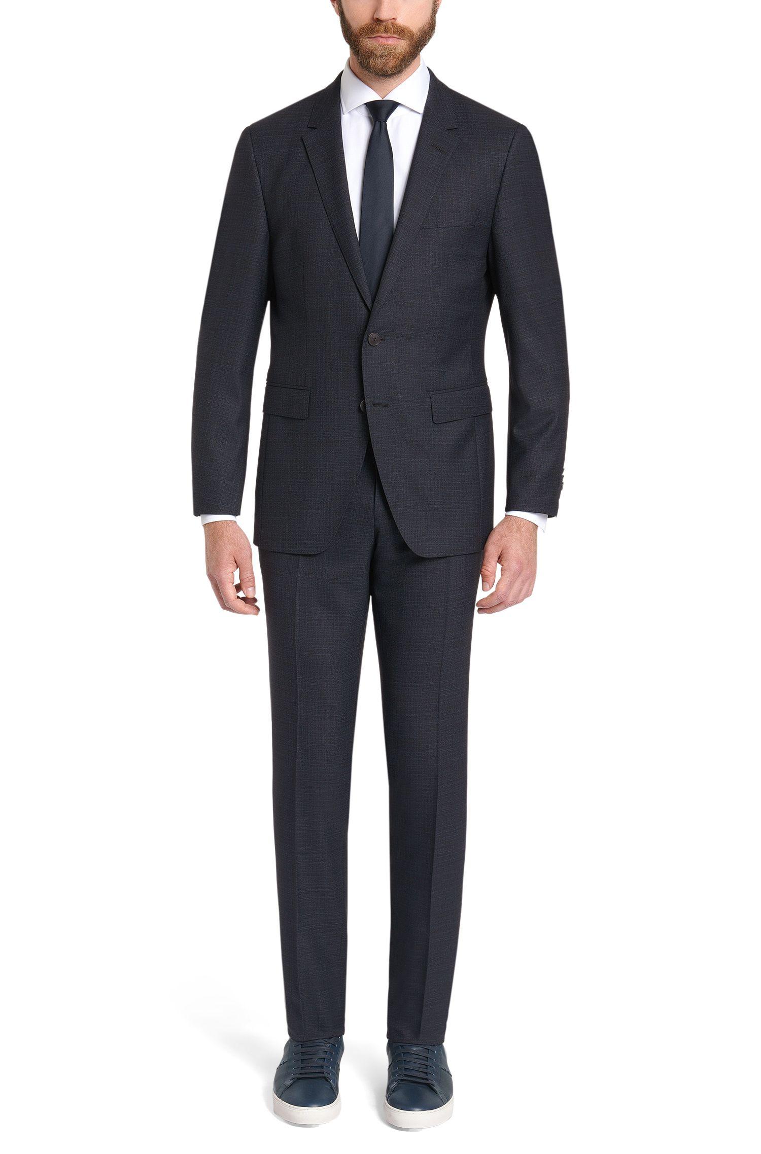 Fein gemusterter Extra Slim-Fit Tailored Anzug aus Schurwolle :'T-Reeve1/Wain'