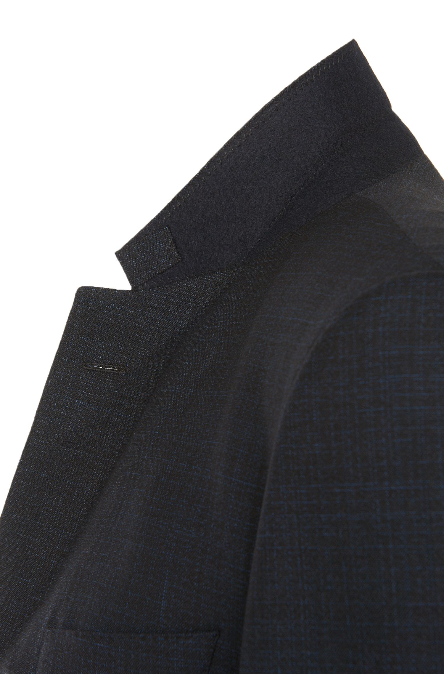 Extra slim-fit kostuum uit de Tailored-collectie, van scheerwol met fijn dessin: 'T-Reeve1/Wain'