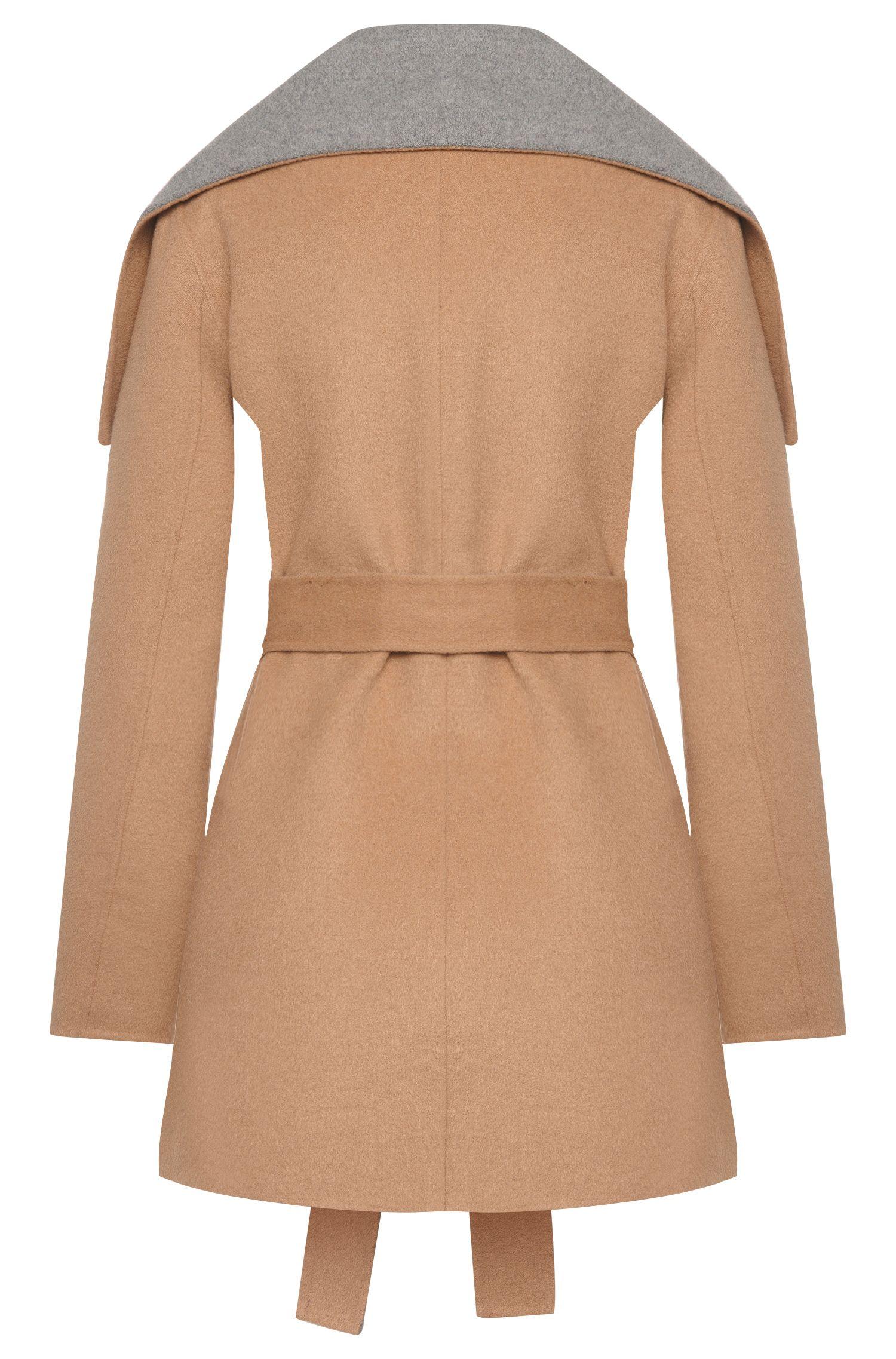 Manteau en laine mélangée à large col rabattable: «Falines-1»