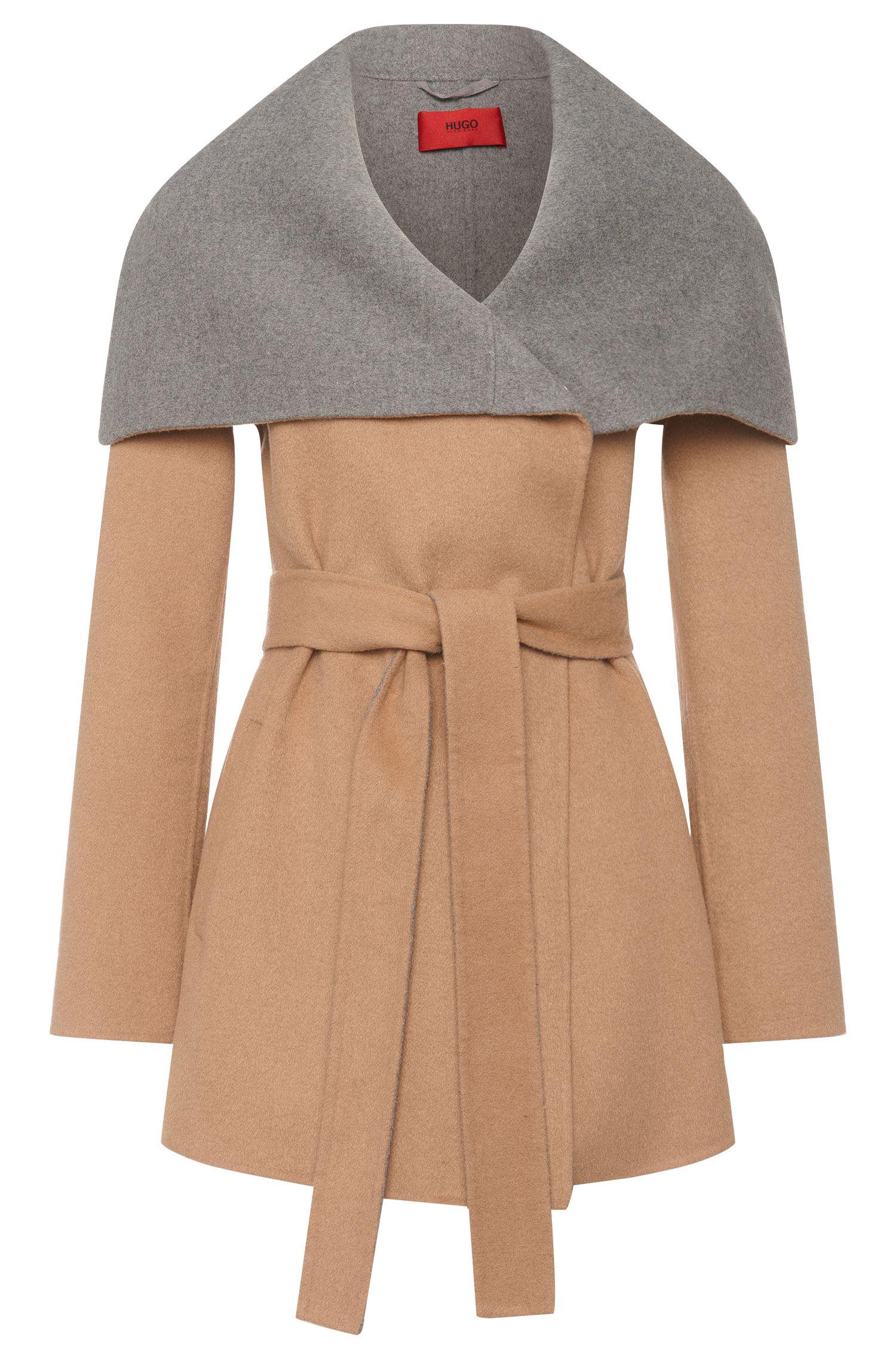 Mantel aus Woll-Mix mit breitem Umlegekragen: 'Falines-1'