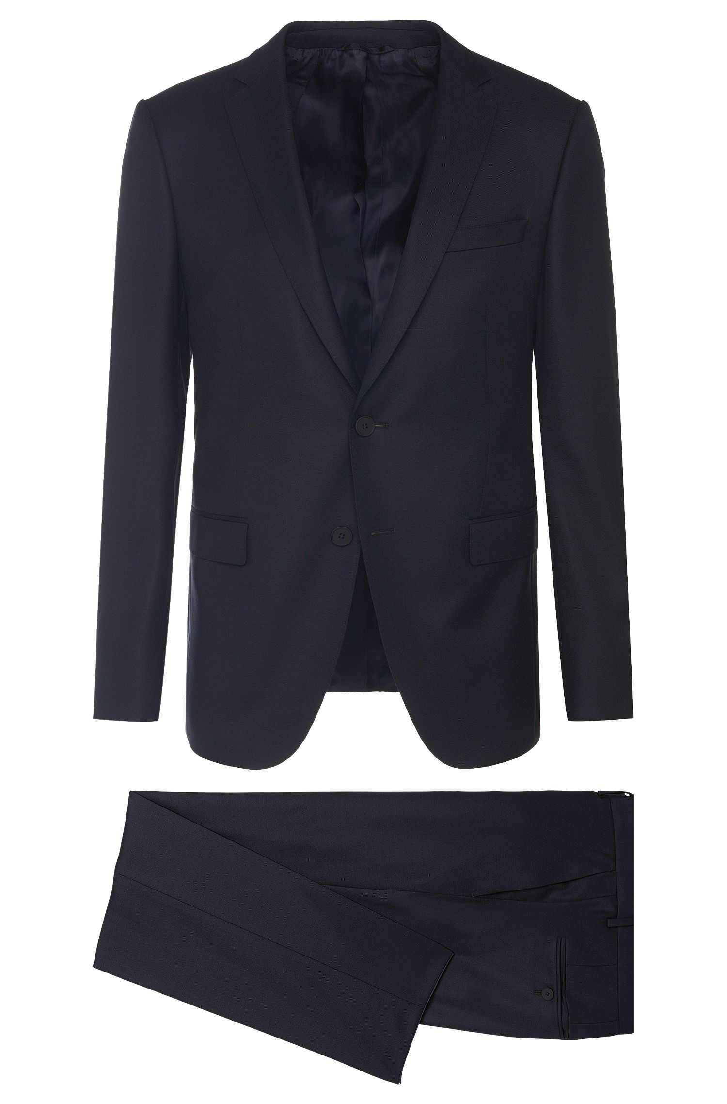 Travel Line slim-fit suit in new wool: 'Nestro/Byte1'