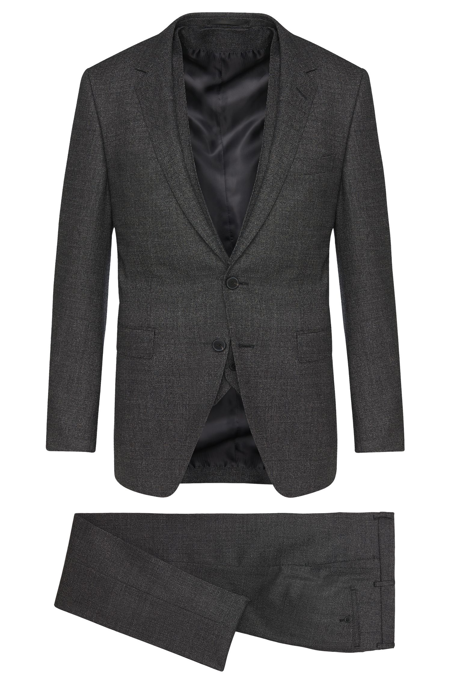 Costume Extra Slim Fit Tailored en laine vierge mélangée à teneur en soie : « T-Reeve1/Wain WE »