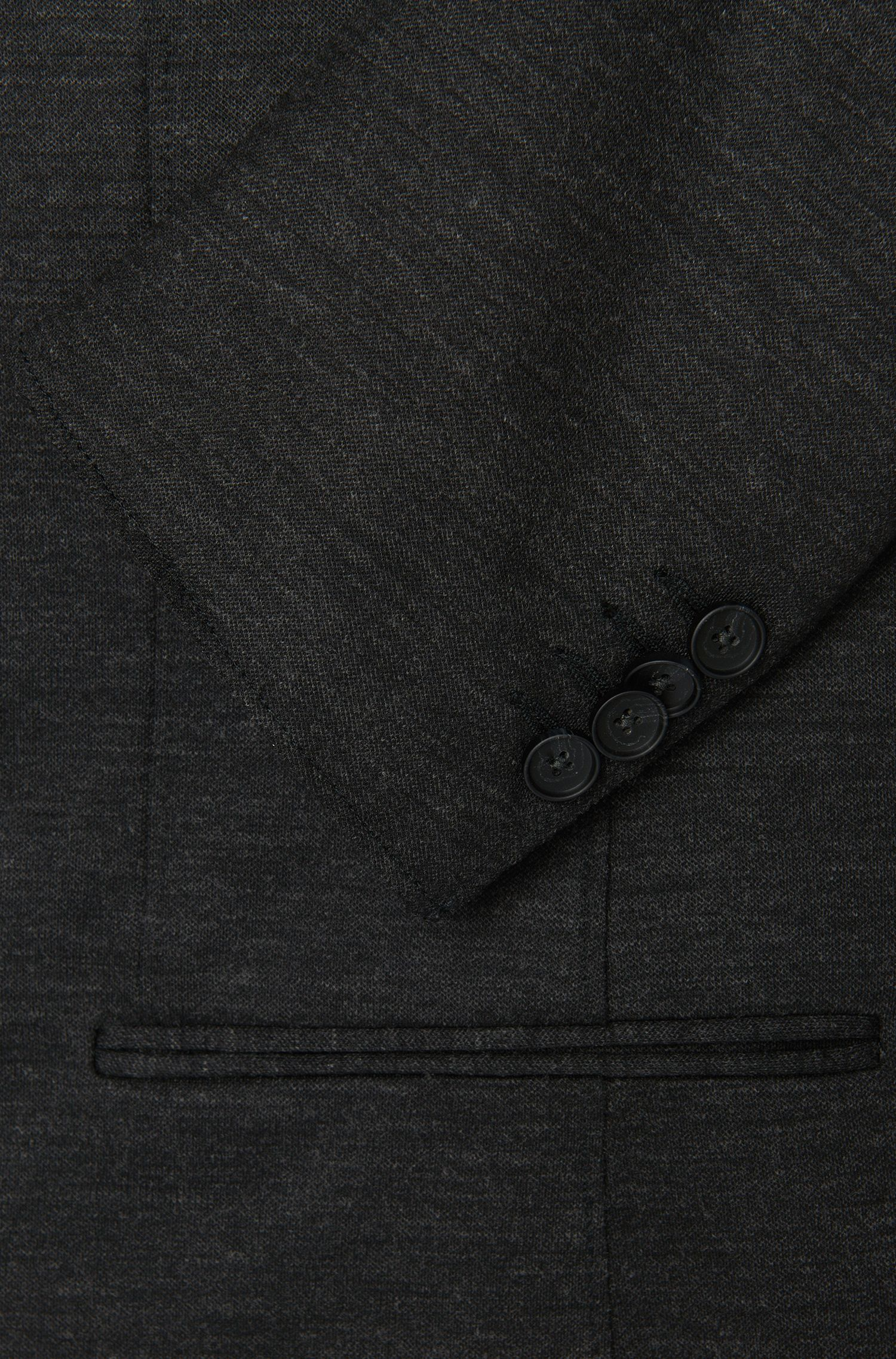 Melierter Slim-Fit Anzug in Jersey-Qualität: 'Natan/Bruce'