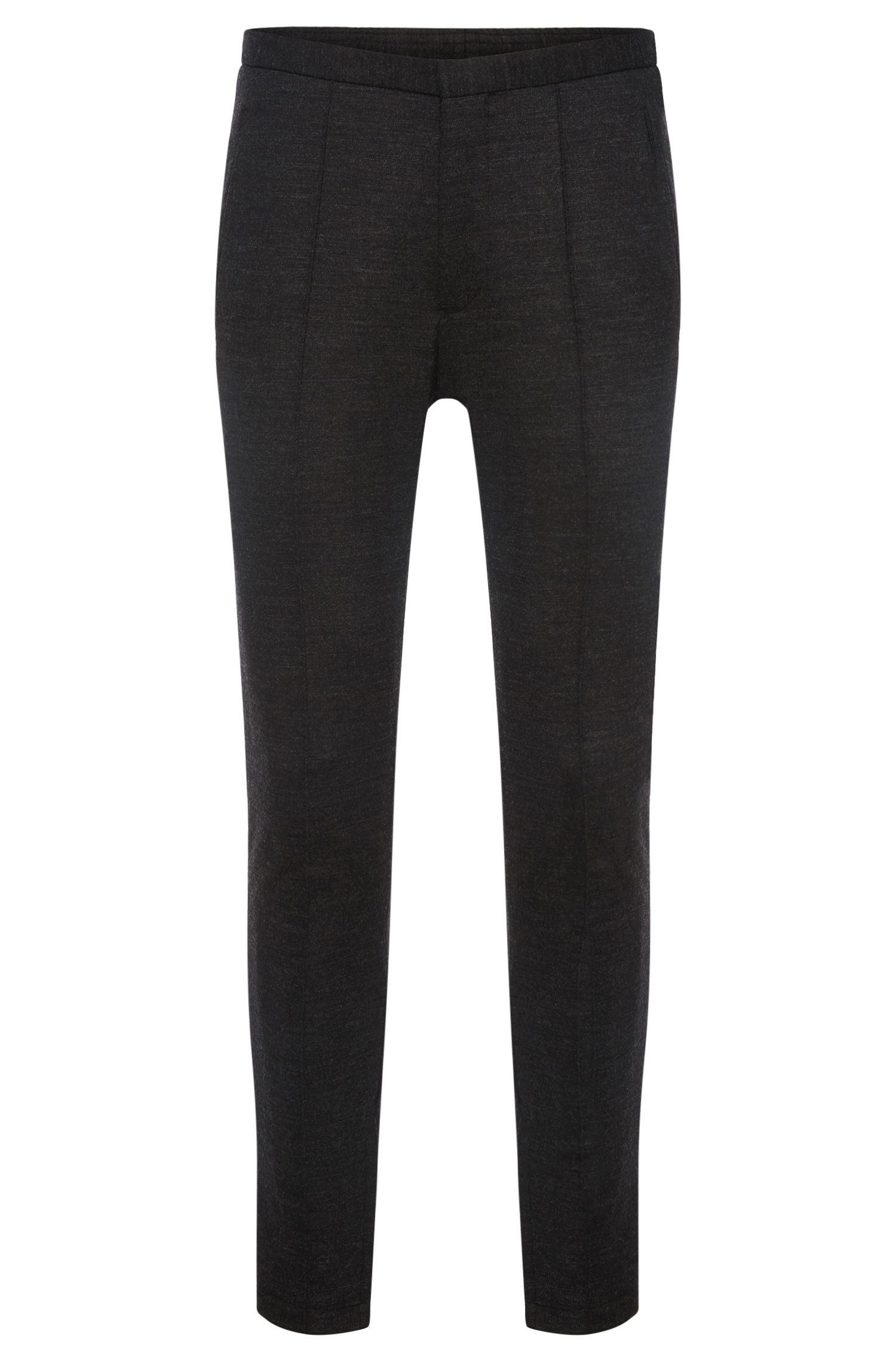 Slim-fit trousers with elastic insert in the waistband: 'Brio'