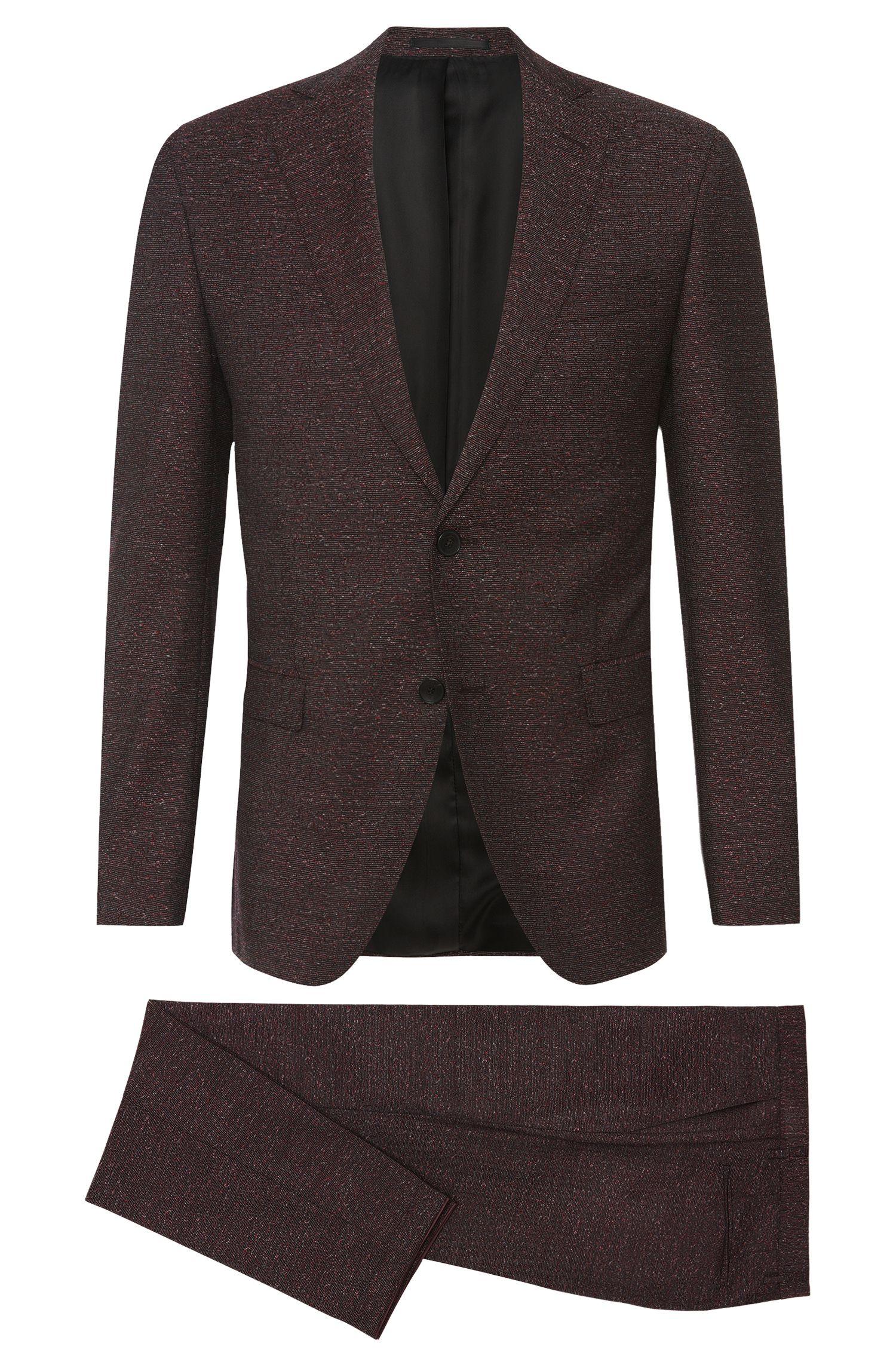 Gemusterter Extra Slim-Fit Anzug aus Schurwolle 'Reyno2/Wave1'