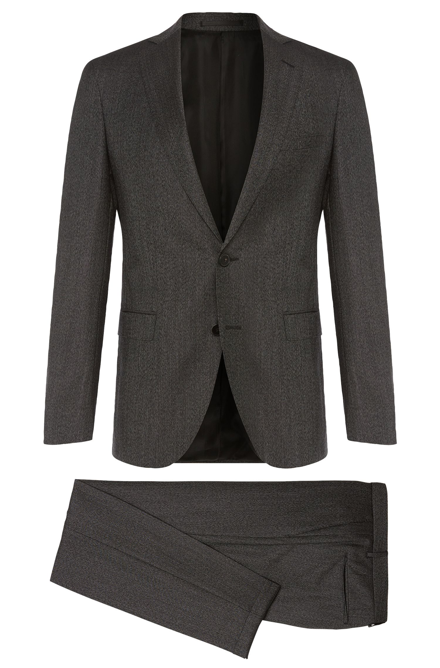 Finely striped extra slim-fit suit in new wool: 'Reyno2/Wave1'