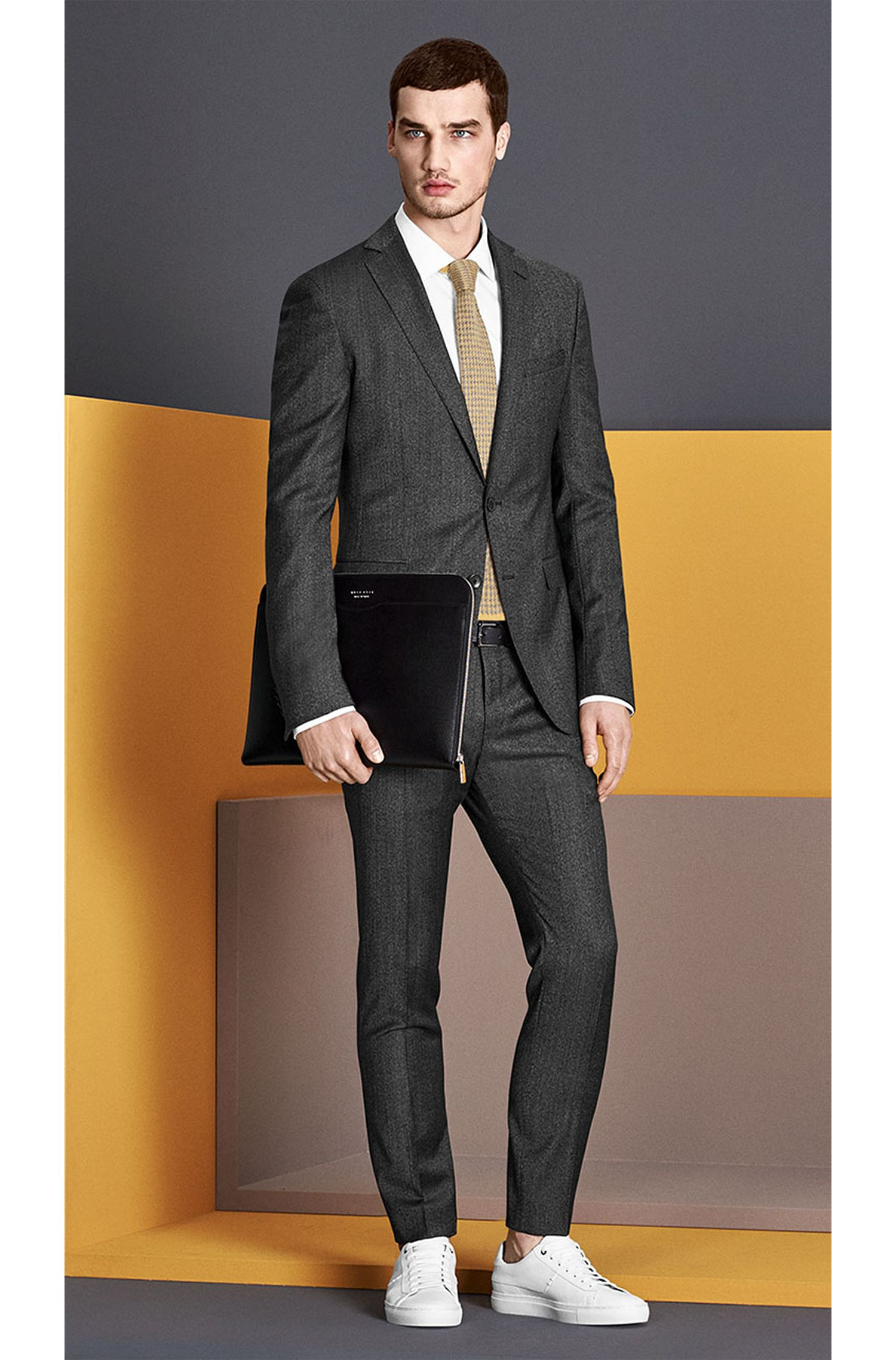 Costume à fines rayures Extra Slim Fit en laine vierge: «Reyno2/Wave1»