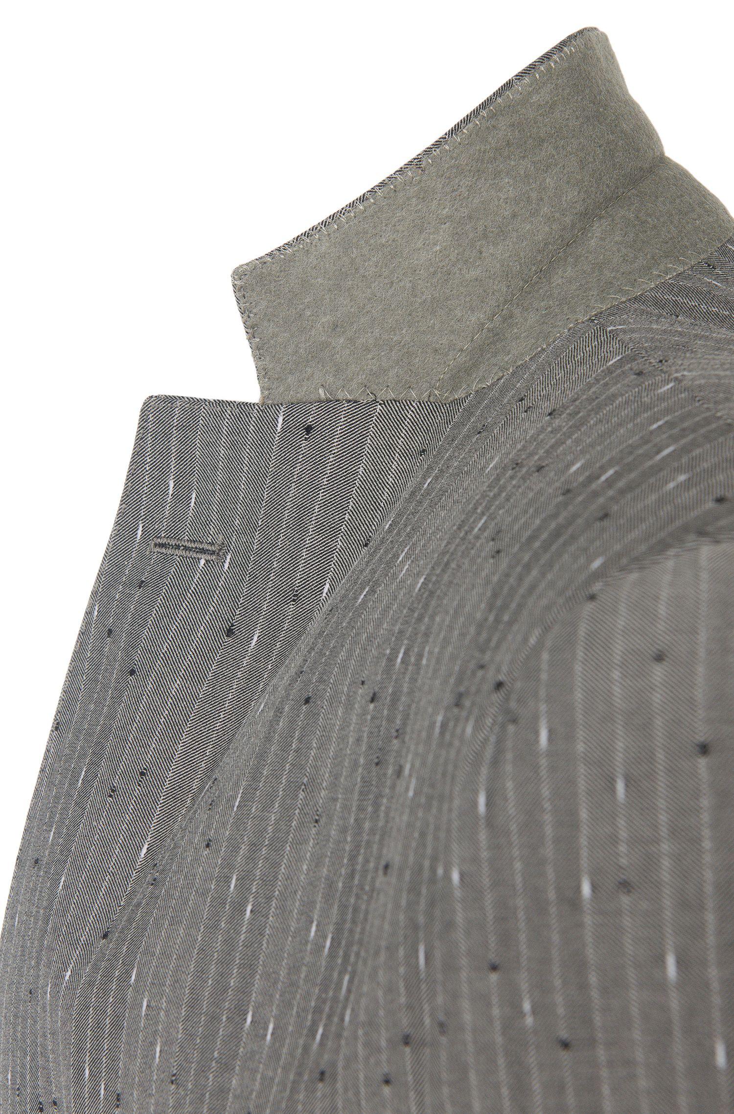Costume rayé Extra Slim Fit en laine vierge mélangée: «Reyno2/Wave1»