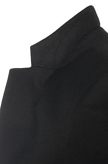 Extra Slim-Fit Anzug mit eingewebtem Struktur-Muster: Rocco1_1/Wyatt', Schwarz