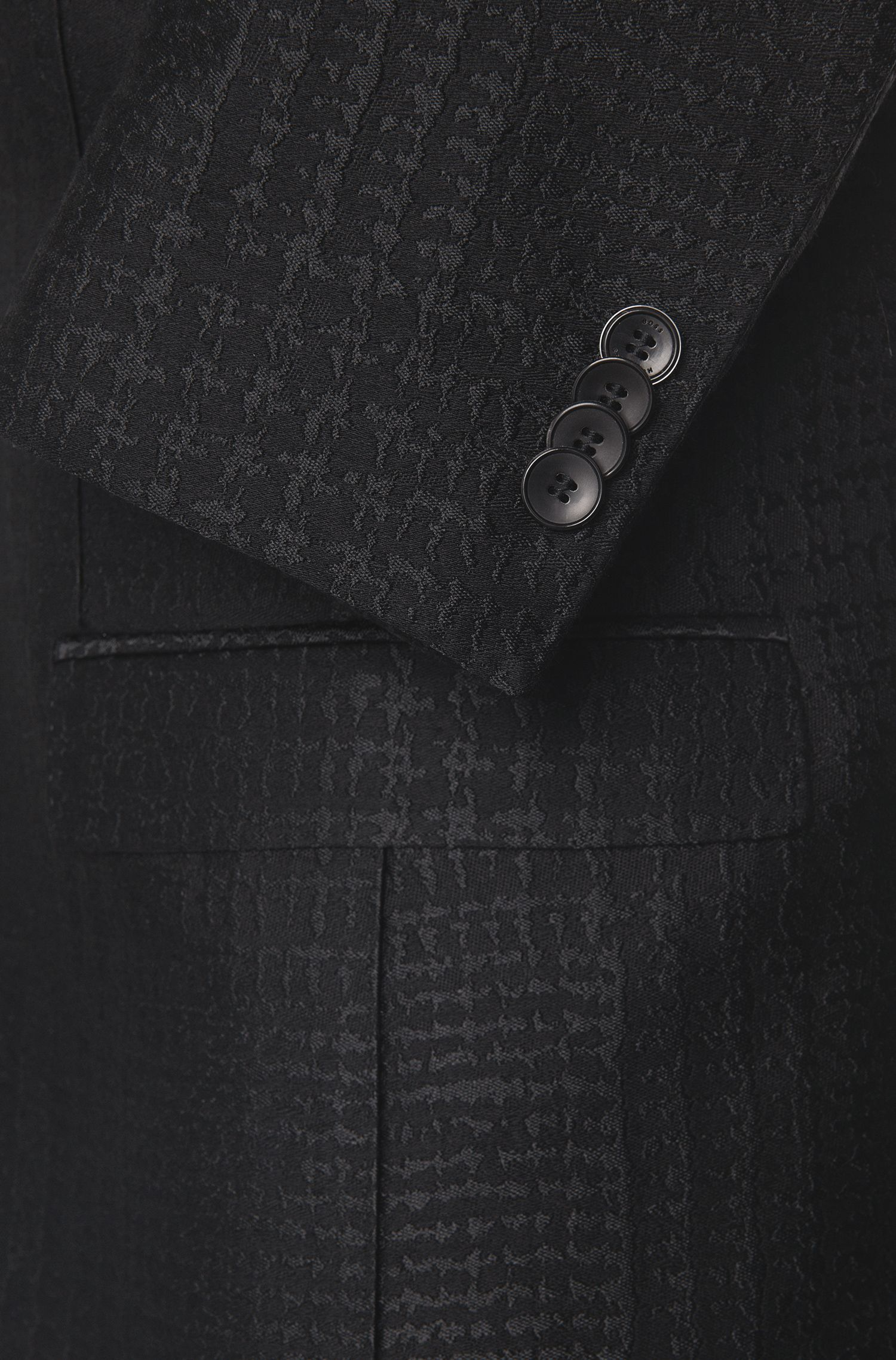 Extra Slim-Fit Anzug mit eingewebtem Struktur-Muster: Rocco1_1/Wyatt'