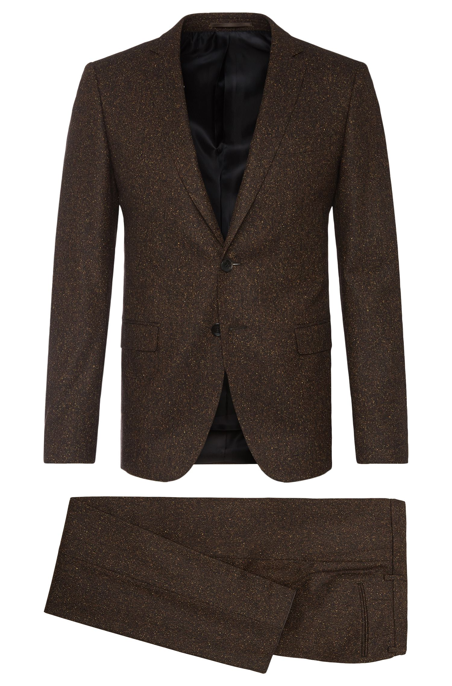Extra-slim-fit suit in new-wool blend with silk: 'Rocco1/Wyatt'