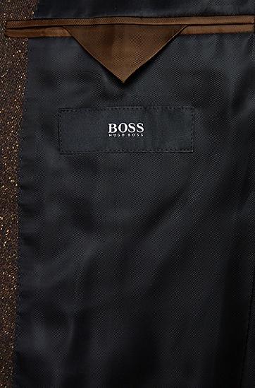Extra Slim-Fit Anzug aus Schurwoll-Mix mit Seide: 'Rocco1/Wyatt', Braun