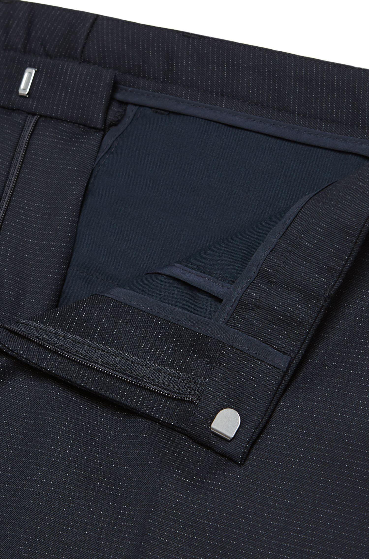 Extra Slim-Fit Anzug aus Schurwolle mit Linien-Muster: Rocco1/Wyatt'