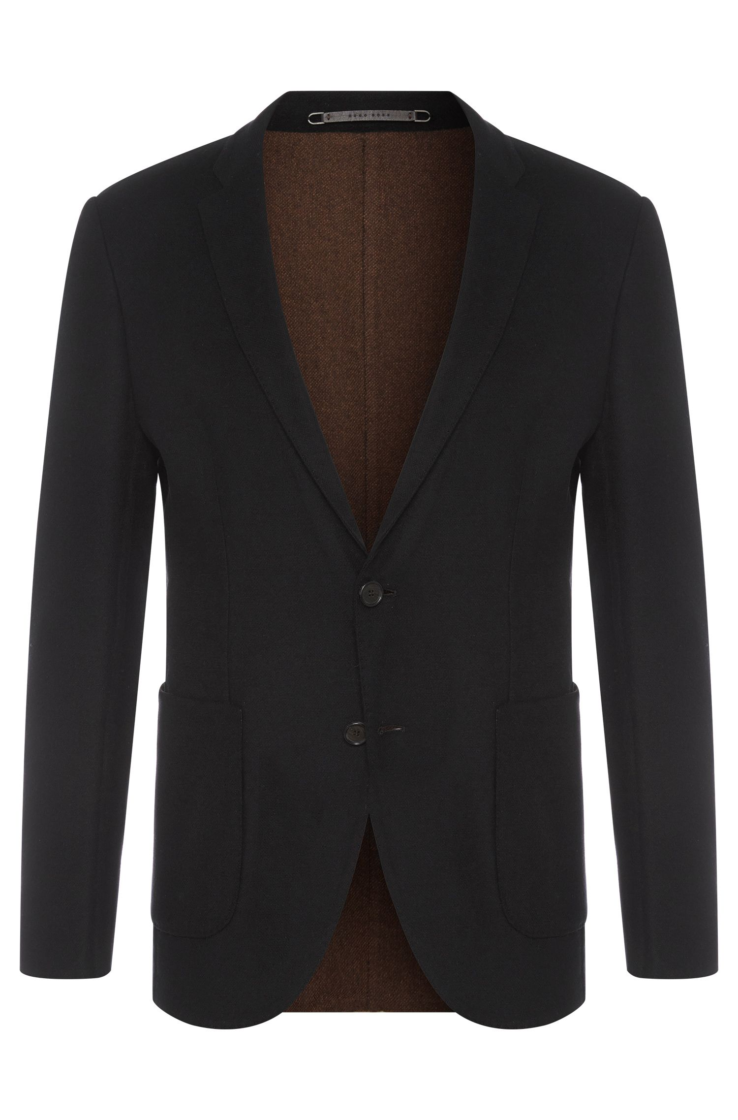 Slim-fit Tailored jacket in new-wool blend with cashmere: 'T-Neavon'