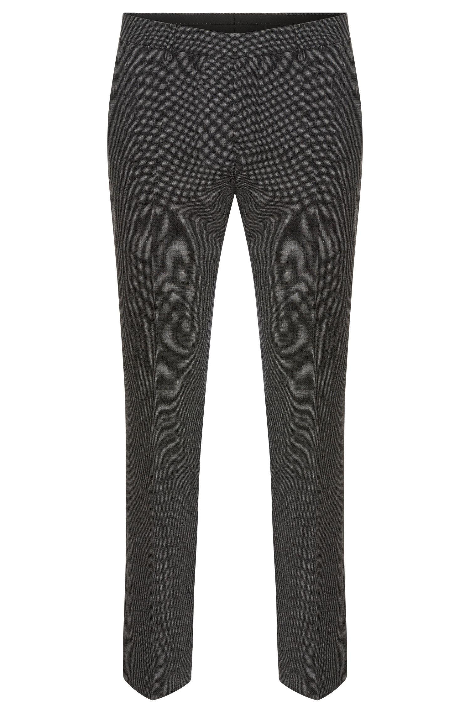 Pantalon Slim Fit Tailored en laine vierge à motif: «T-Gleeve1»