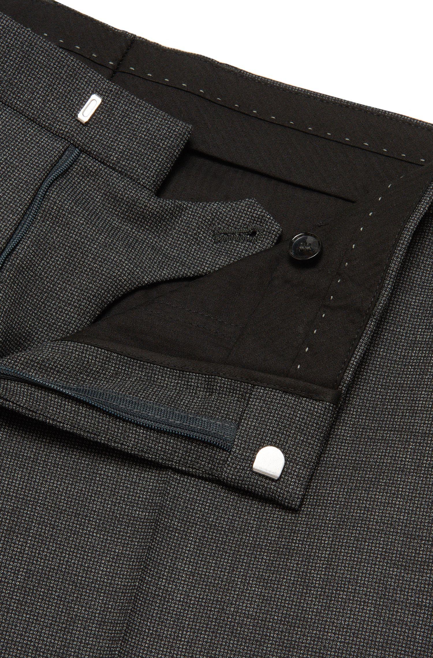 Gemusterte Slim-Fit Tailored Hose aus Schurwolle: 'T-Gleeve1'