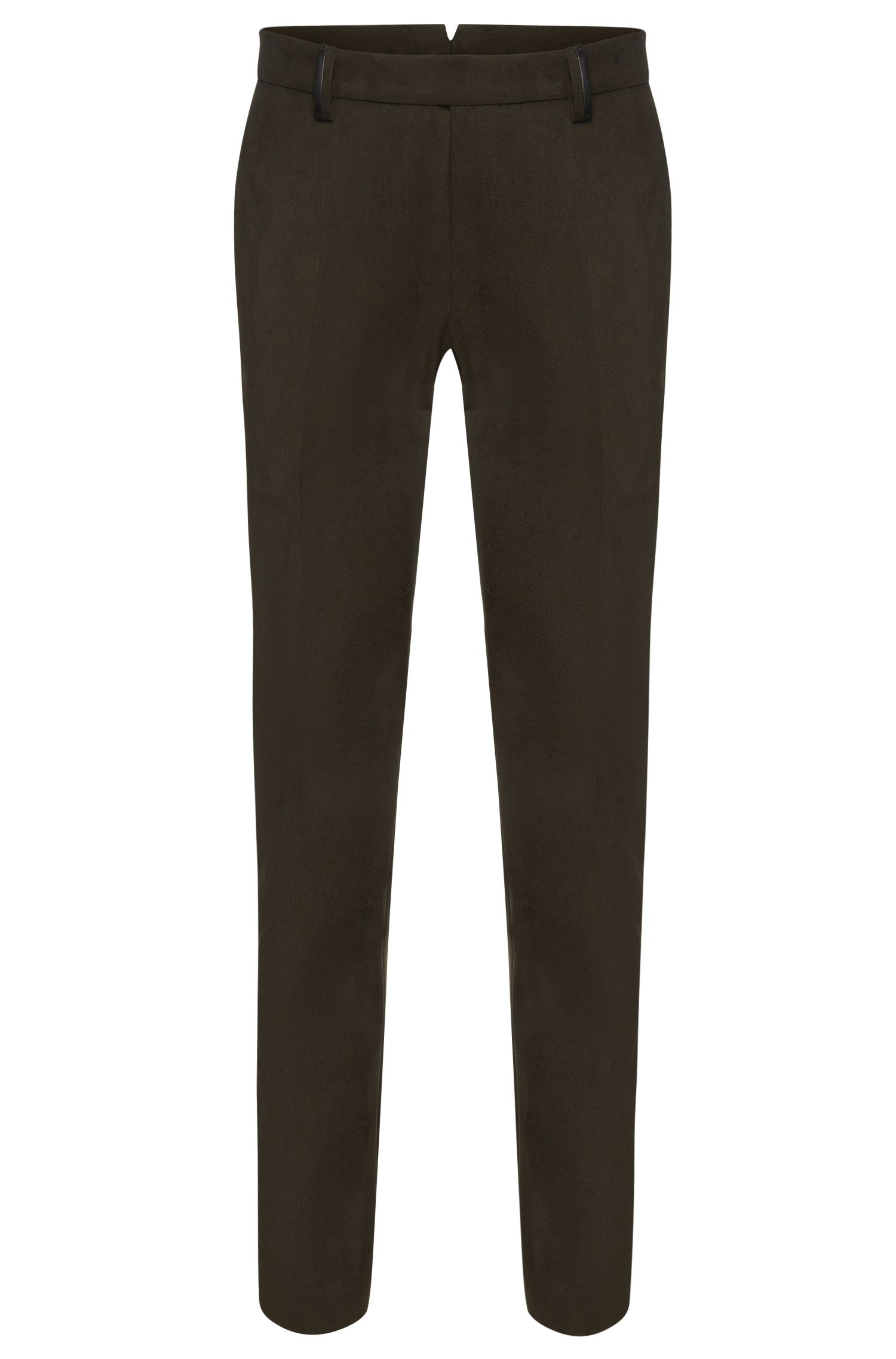 Slim-fit Tailored trousers in cotton: 'T-Gilsen'