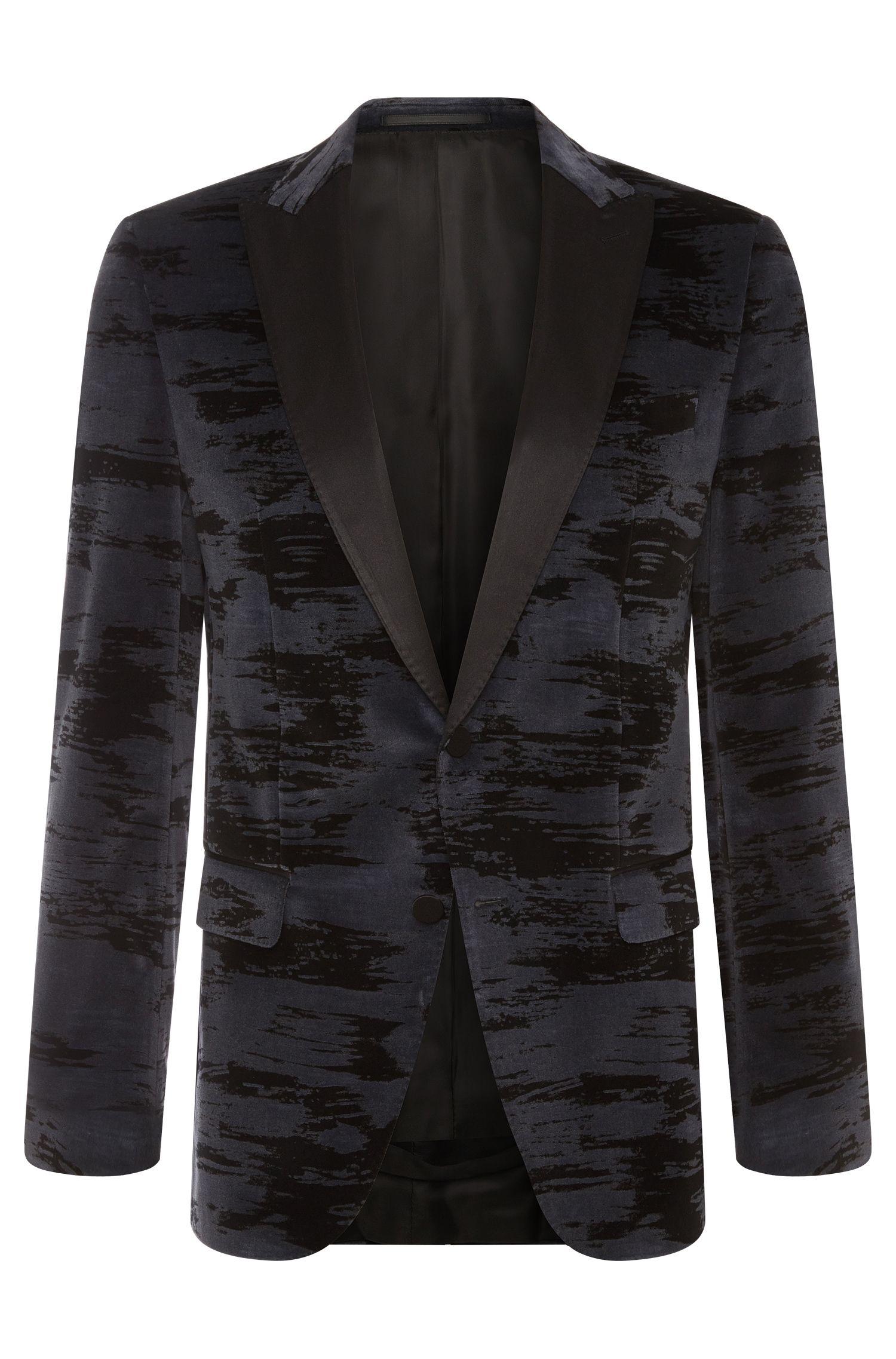 Veste de costume Slim Fit en pur coton à motif: «Haimon»