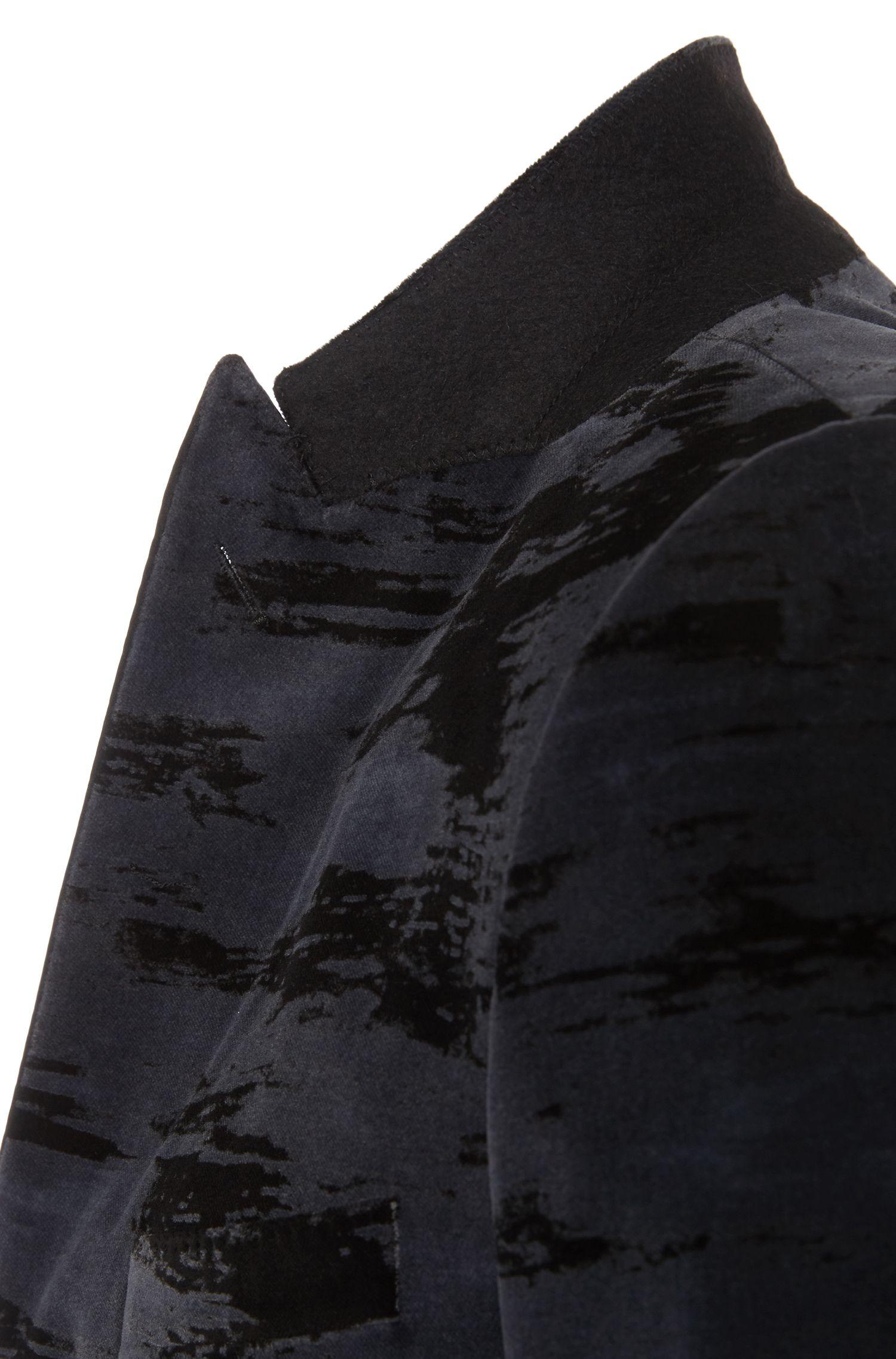 Gemustertes Slim-Fit Sakko aus reiner Baumwolle: 'Haimon'