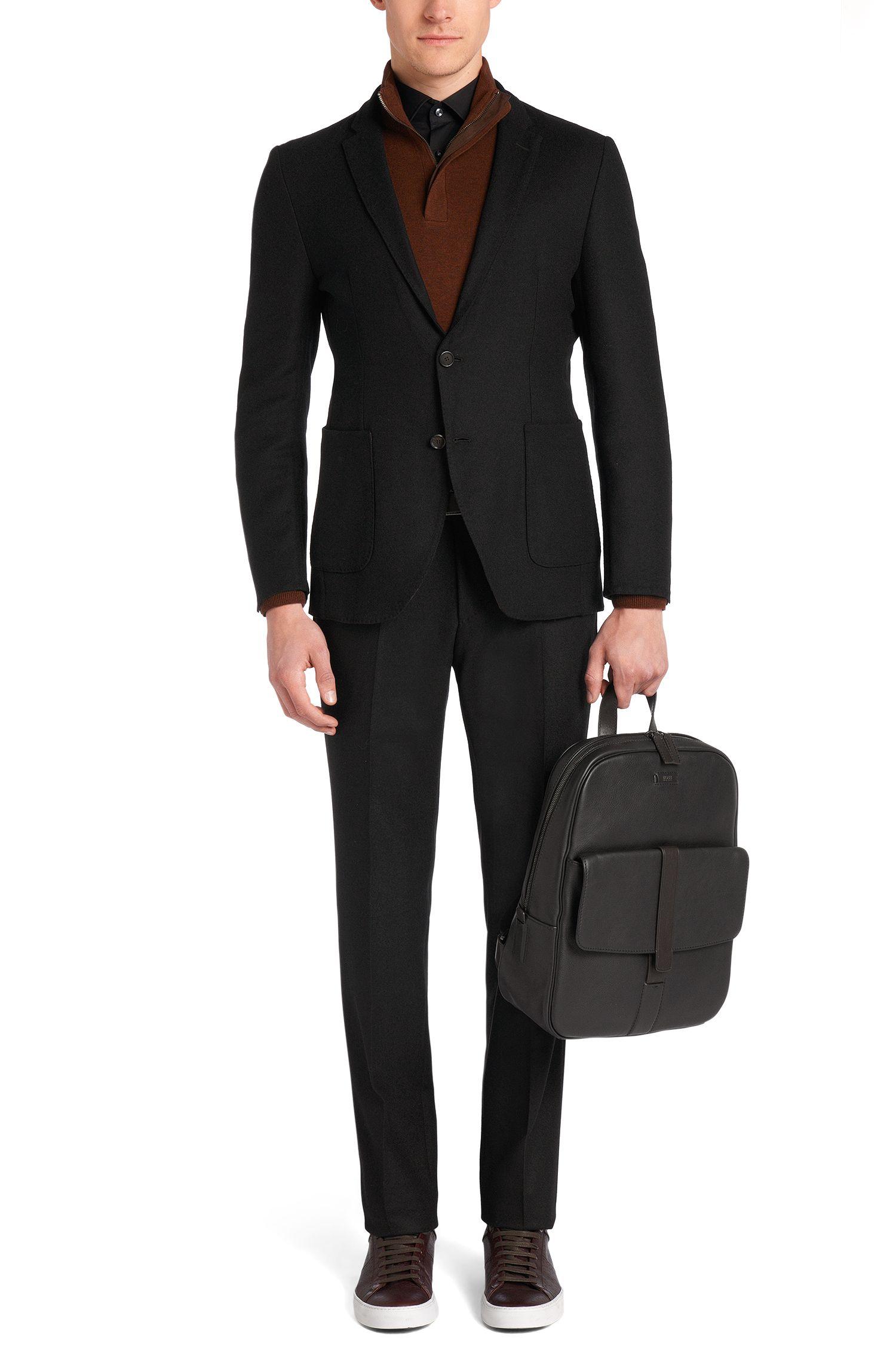 Pantalon Slim Fit Tailored en laine vierge: «T-Gilsen»