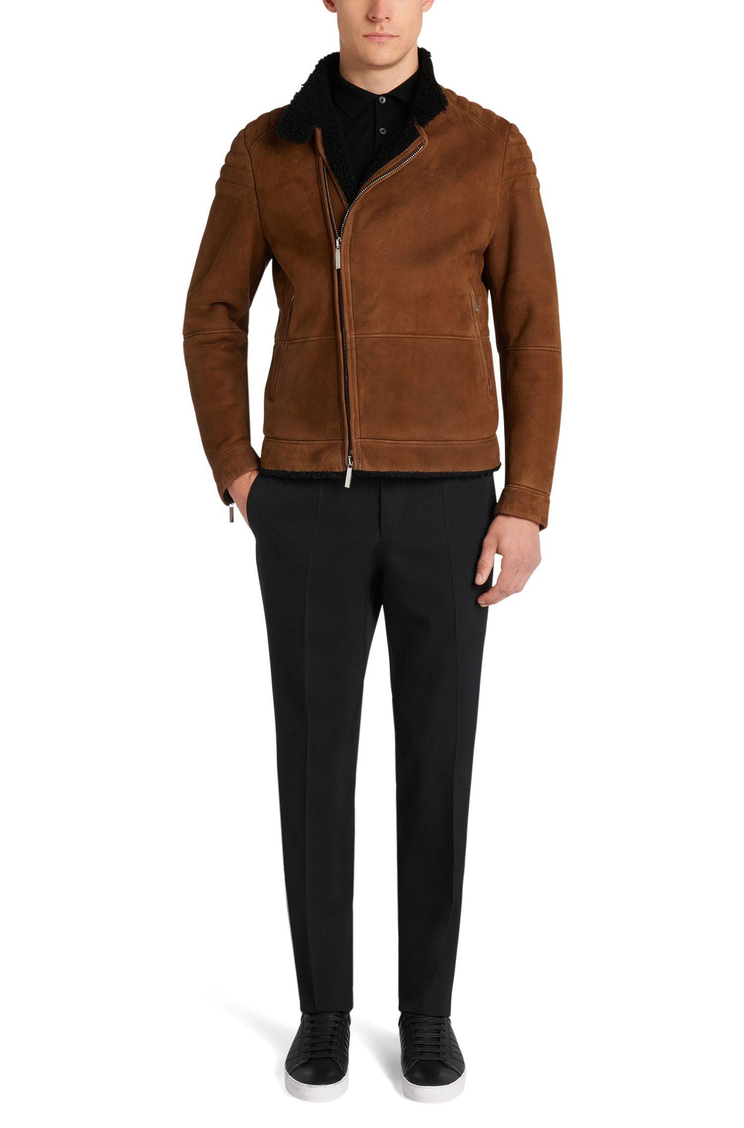 Slim-Fit Tailored Hose aus Schurwolle: 'T-Bale'
