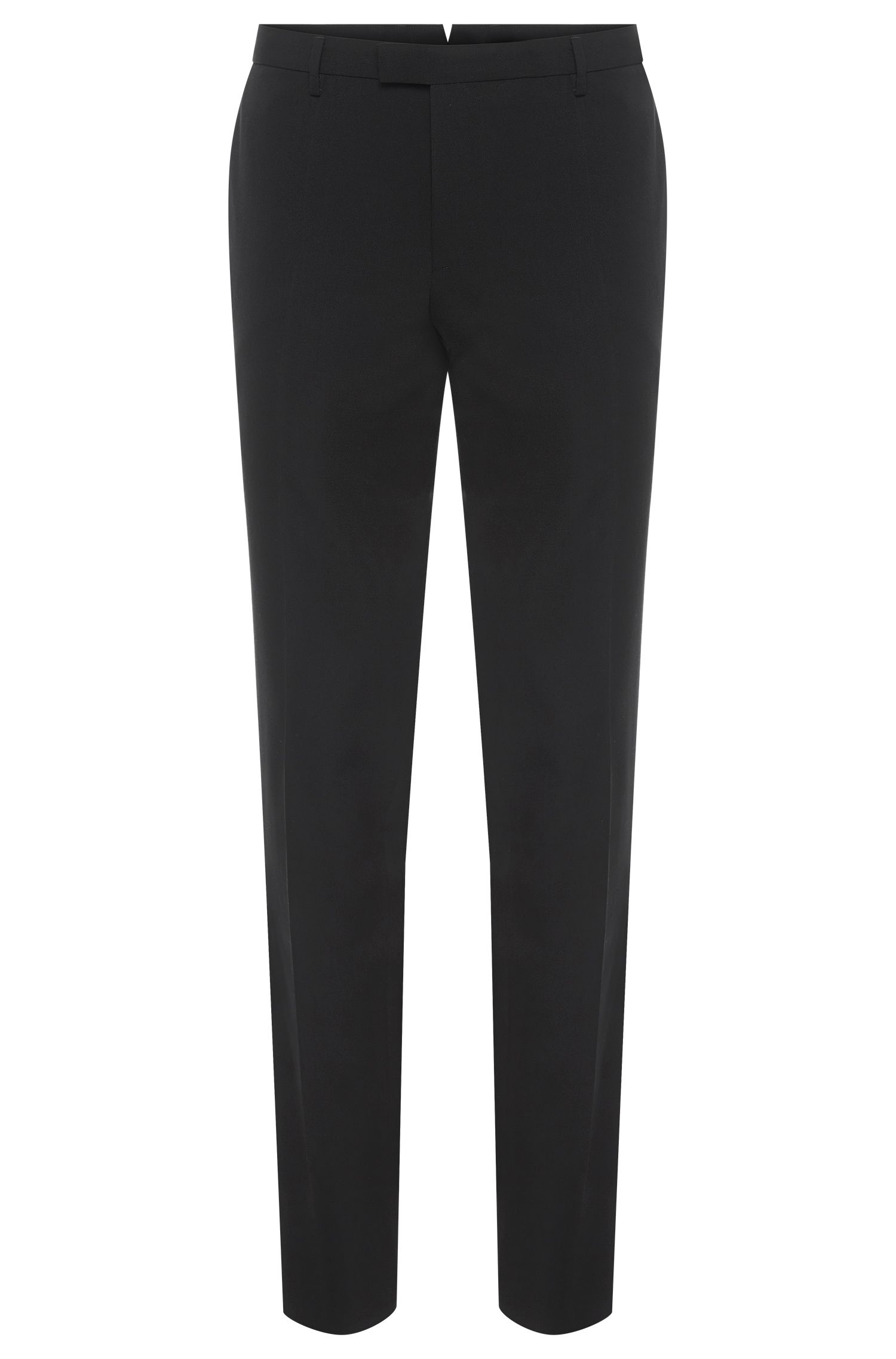 Pantalon Slim Fit Tailored en pure laine vierge : « T-Bale »