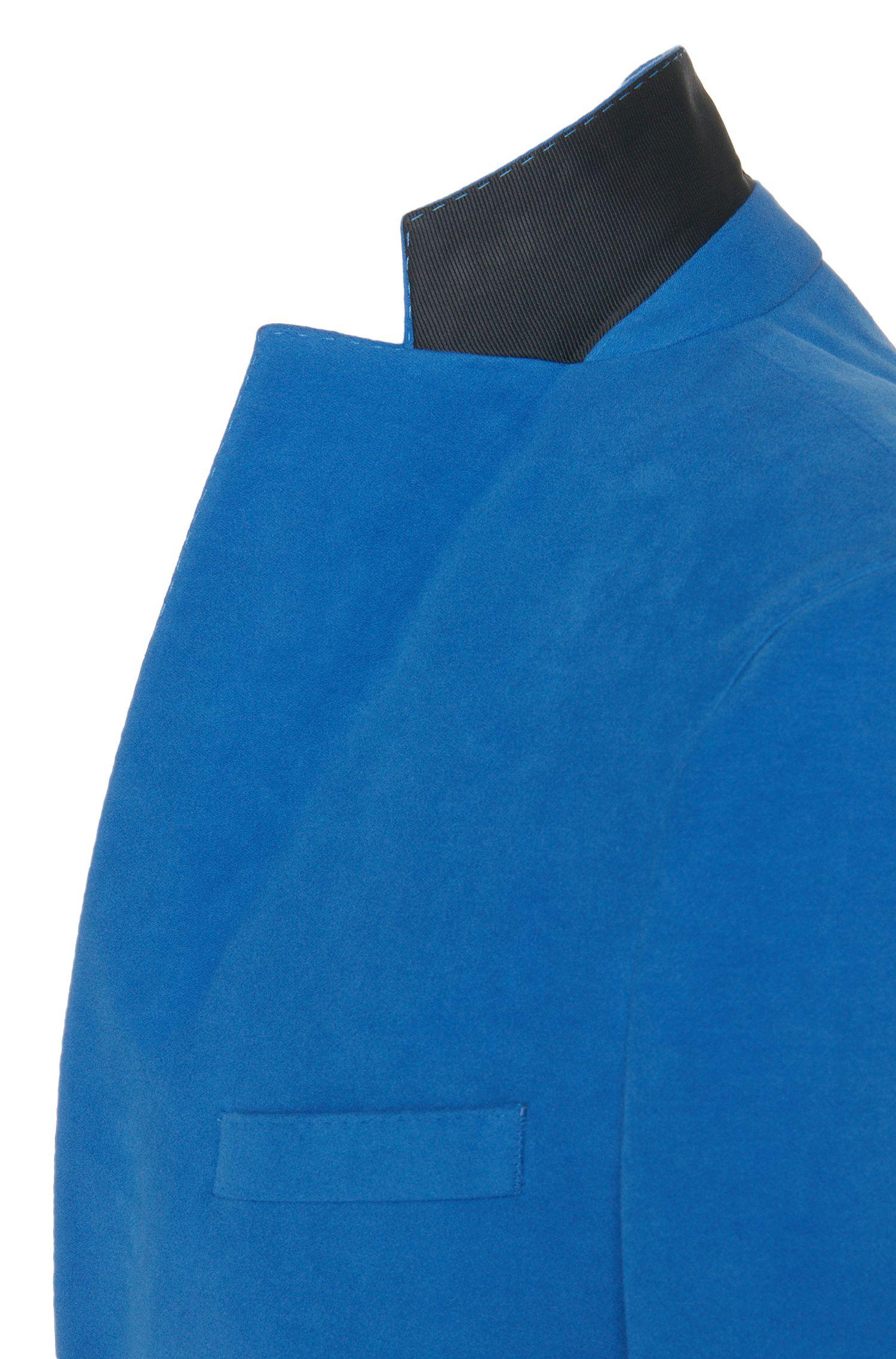 Extra Slim-Fit Sakko aus Stretch-Baumwolle mit samtiger Haptik: 'Ross2'