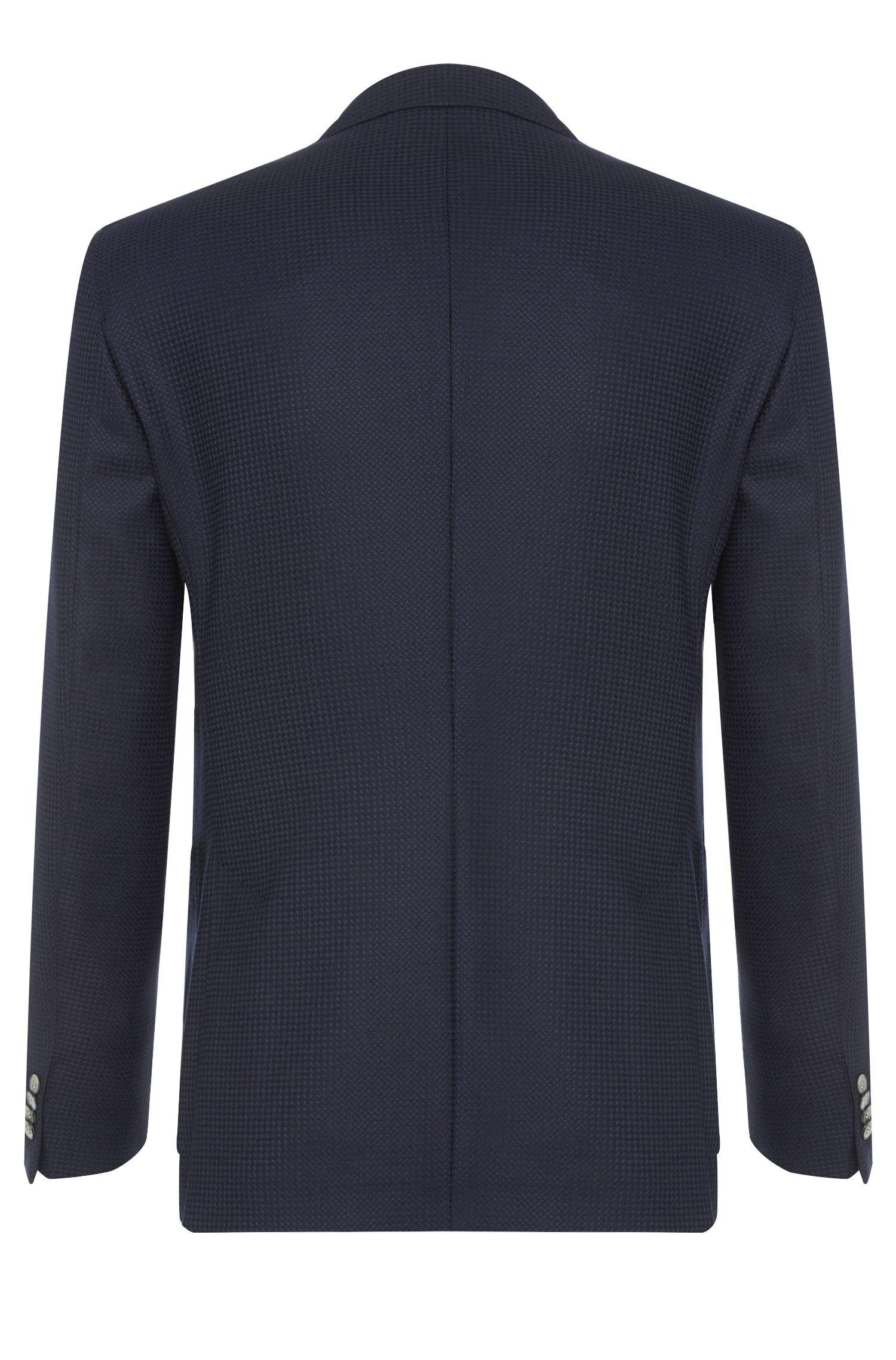 Veste de costume Extra Slim Fit en laine vierge dotée de poches plaquées: «Raye5»