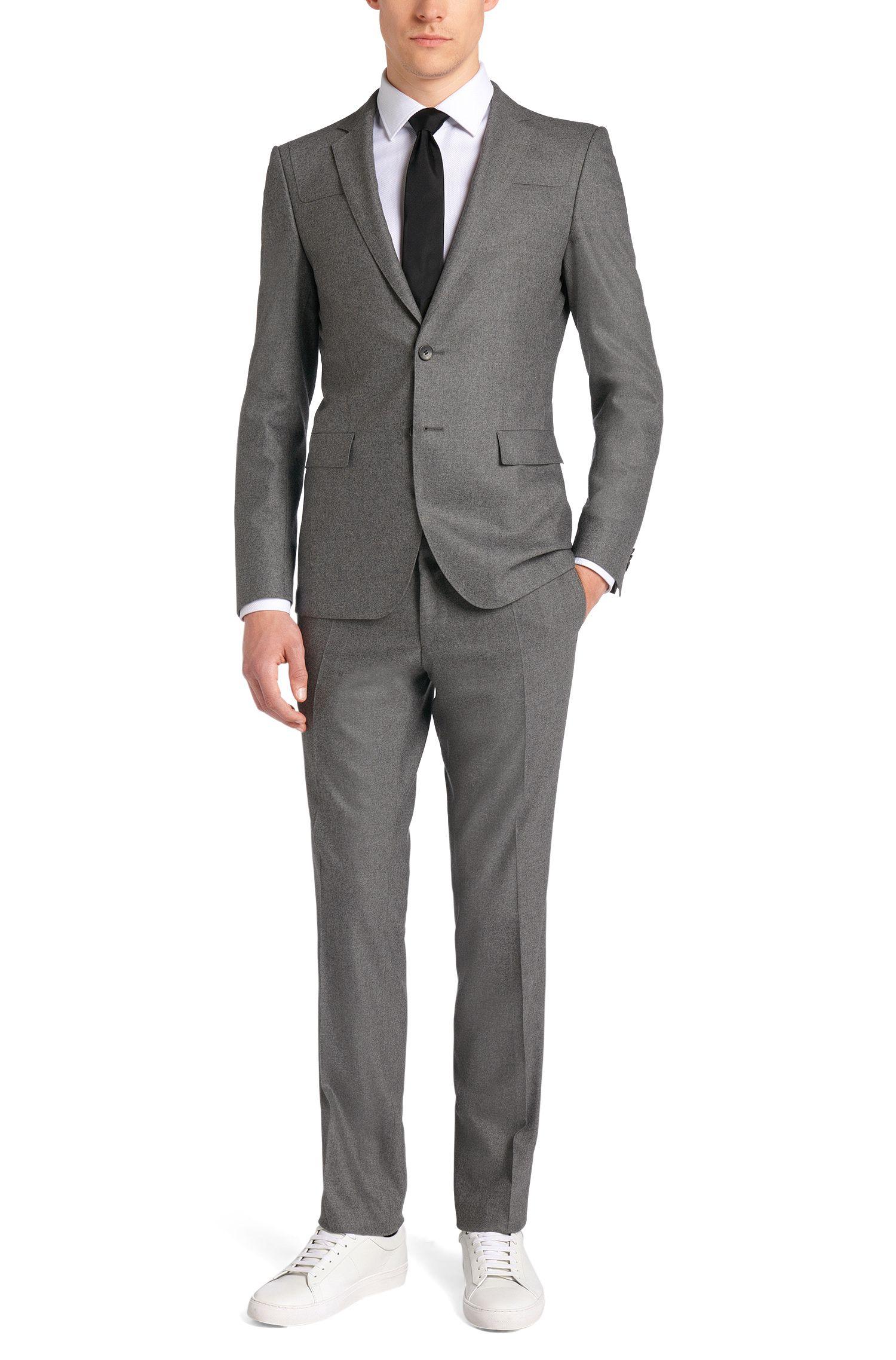 Veste de costume Extra Slim Fit en laine vierge extensible mélangée à du cachemire: «Randal»