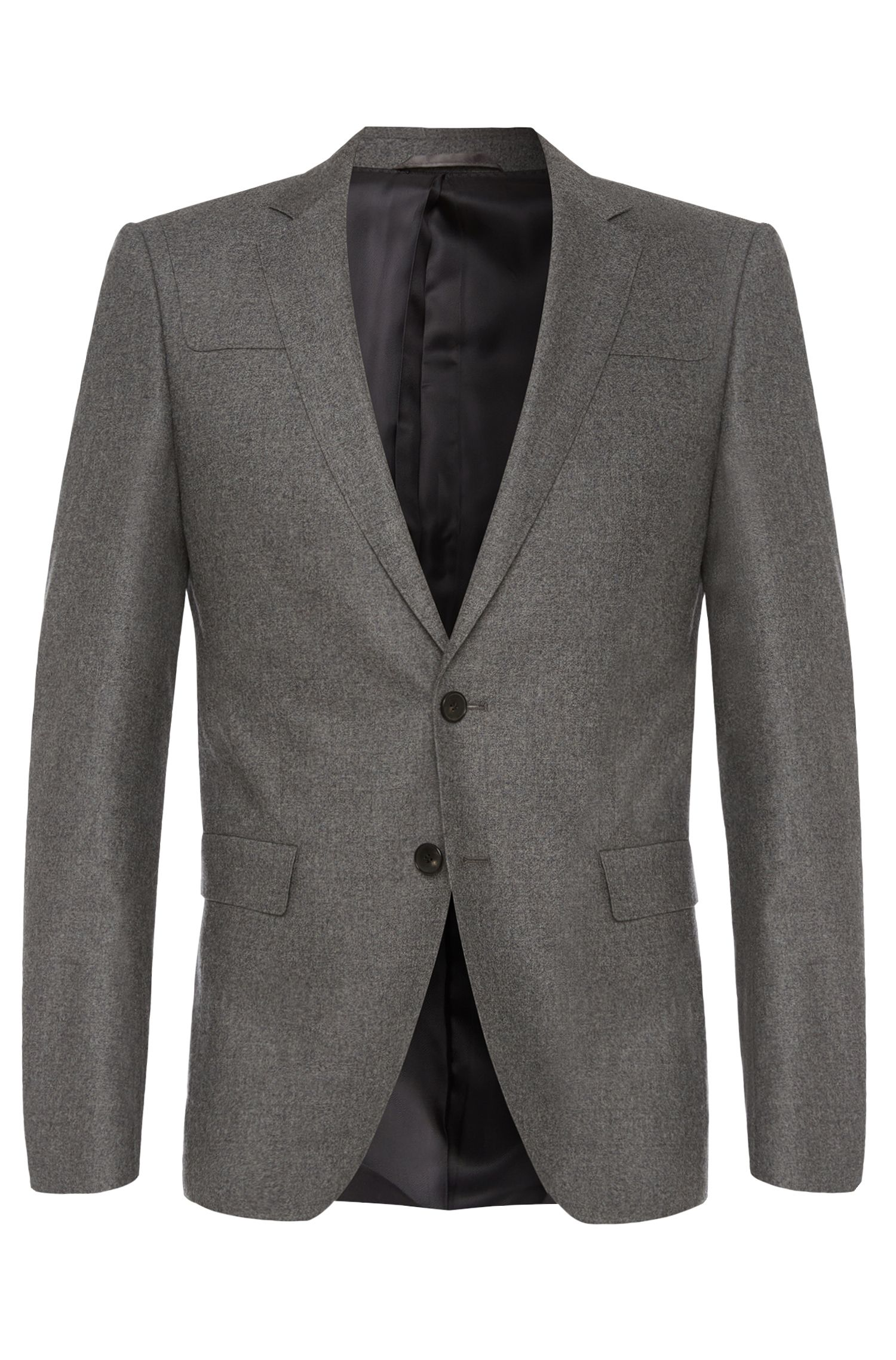 Extra-slim-fit jacket in stretch new-wool blend with cashmere: 'Randal'