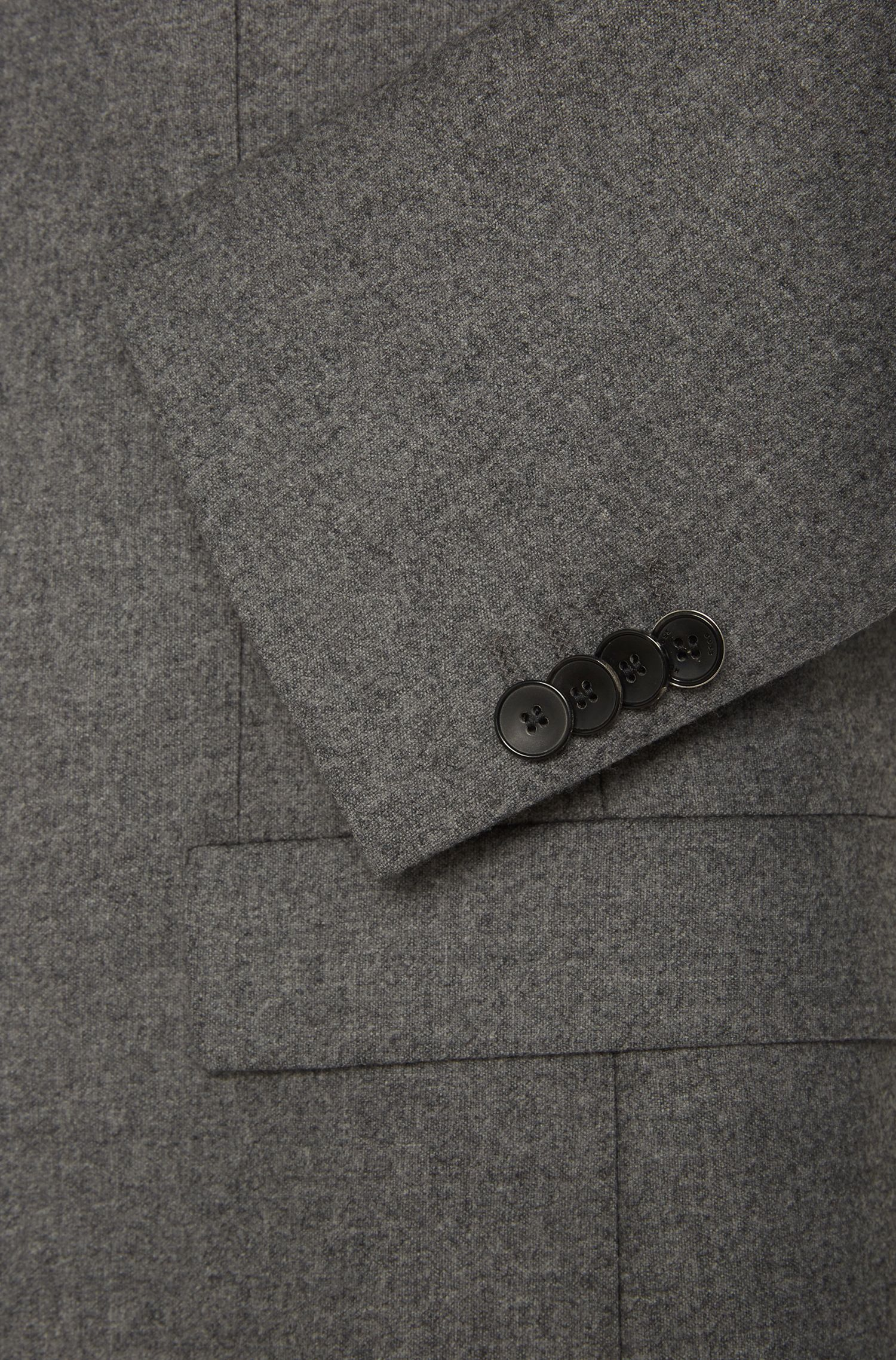 Extra Slim-Fit Sakko aus elastischem Schurwoll-Mix mit Kaschmir: 'Randal'