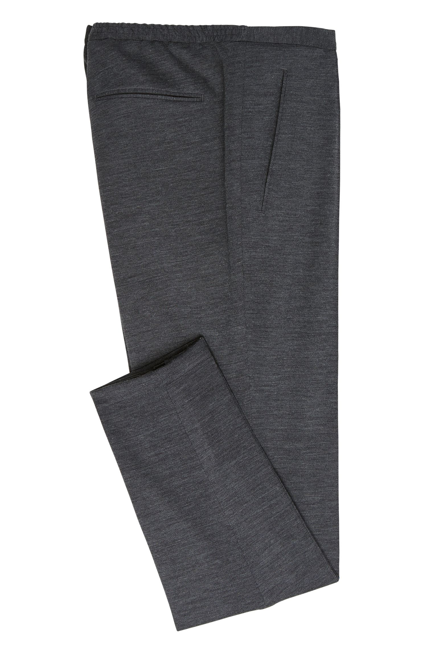 Gemêleerde slim-fit sweatbroek: 'Brio'