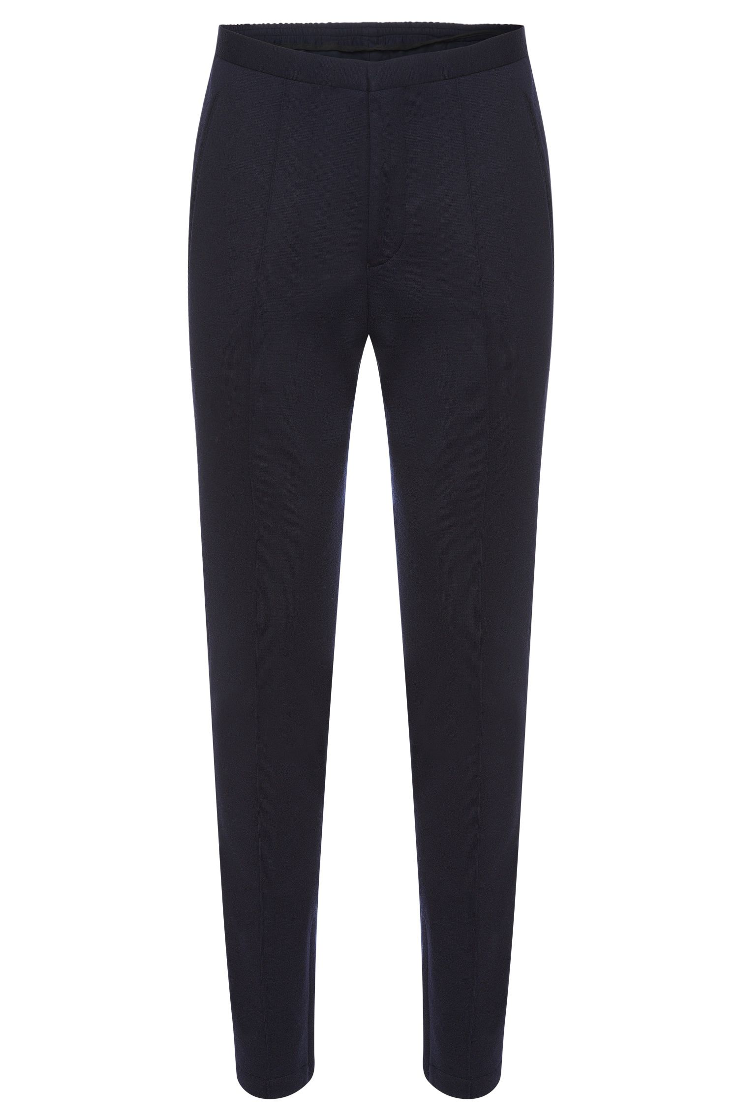 Mottled slim-fit sweat trousers: 'Brio'