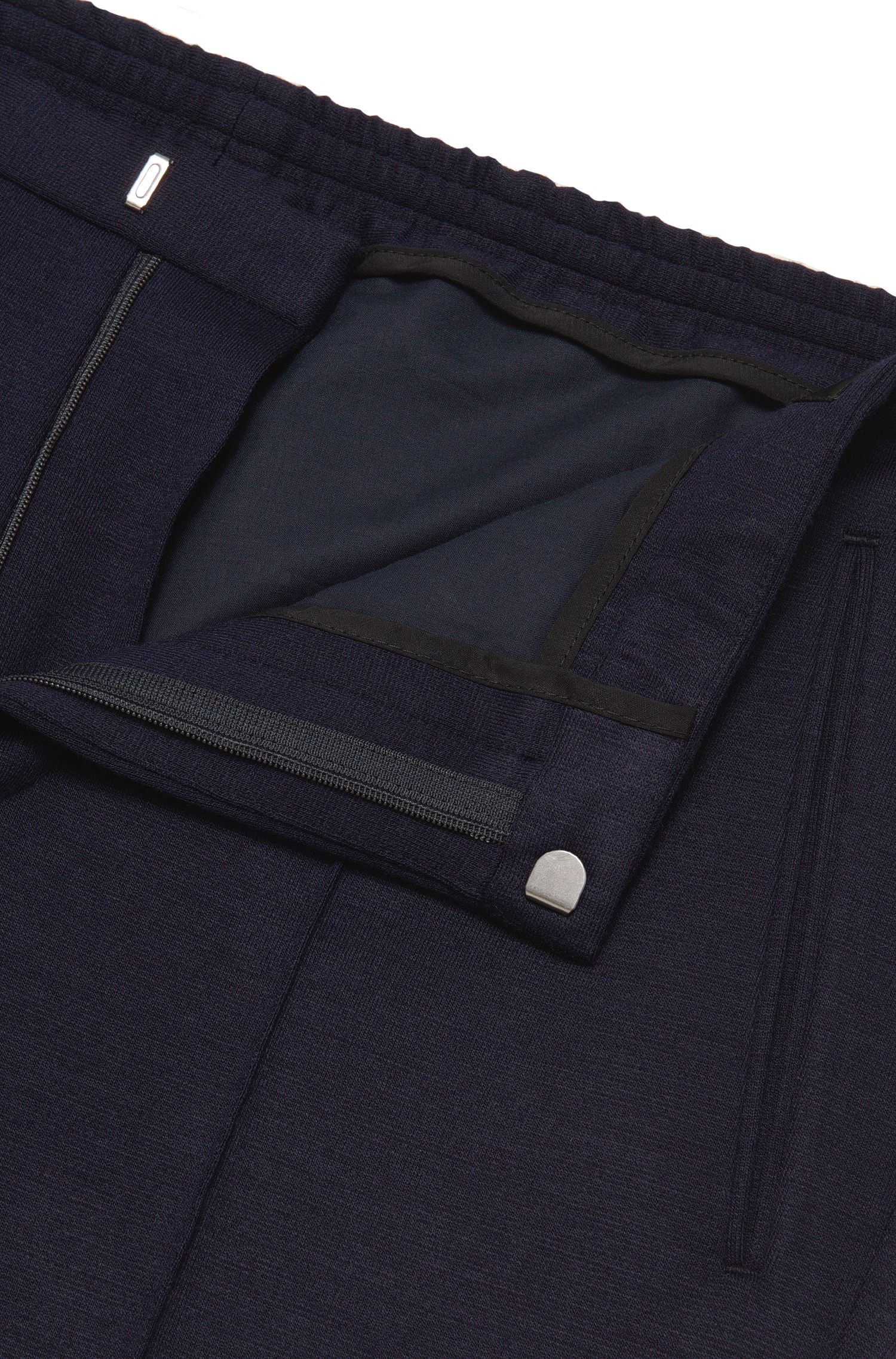 Melierte Slim-Fit Sweathose: 'Brio'