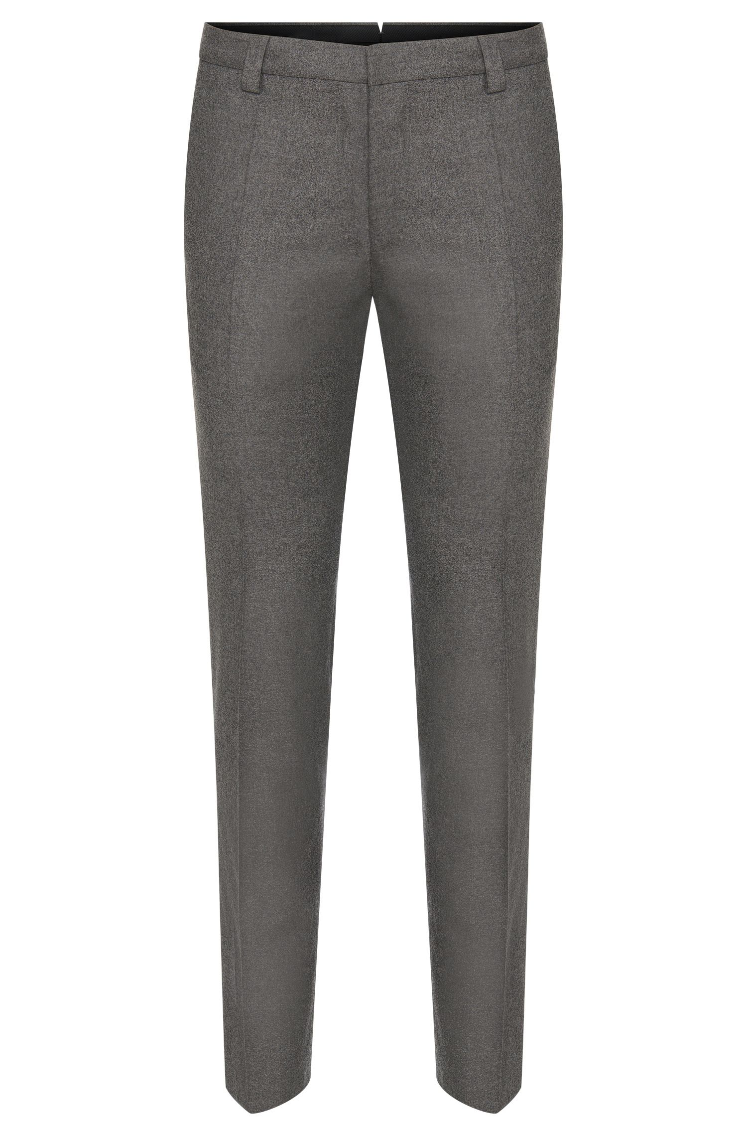 Mottled slim-fit trousers in new-wool blend with cashmere: 'Alec'