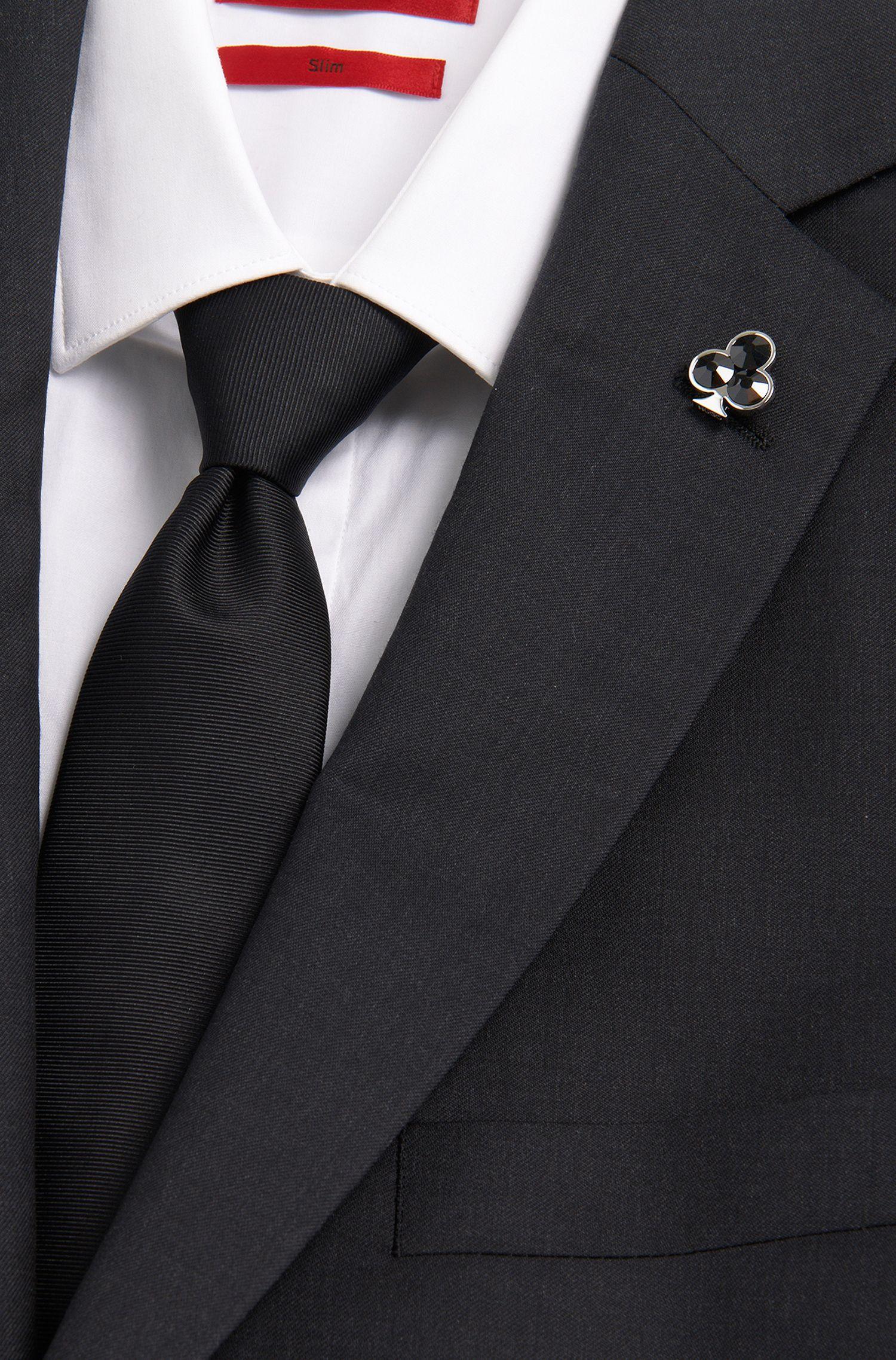 Pince à cravate en laiton ornée de strass: «E-CLUBS-PIN»