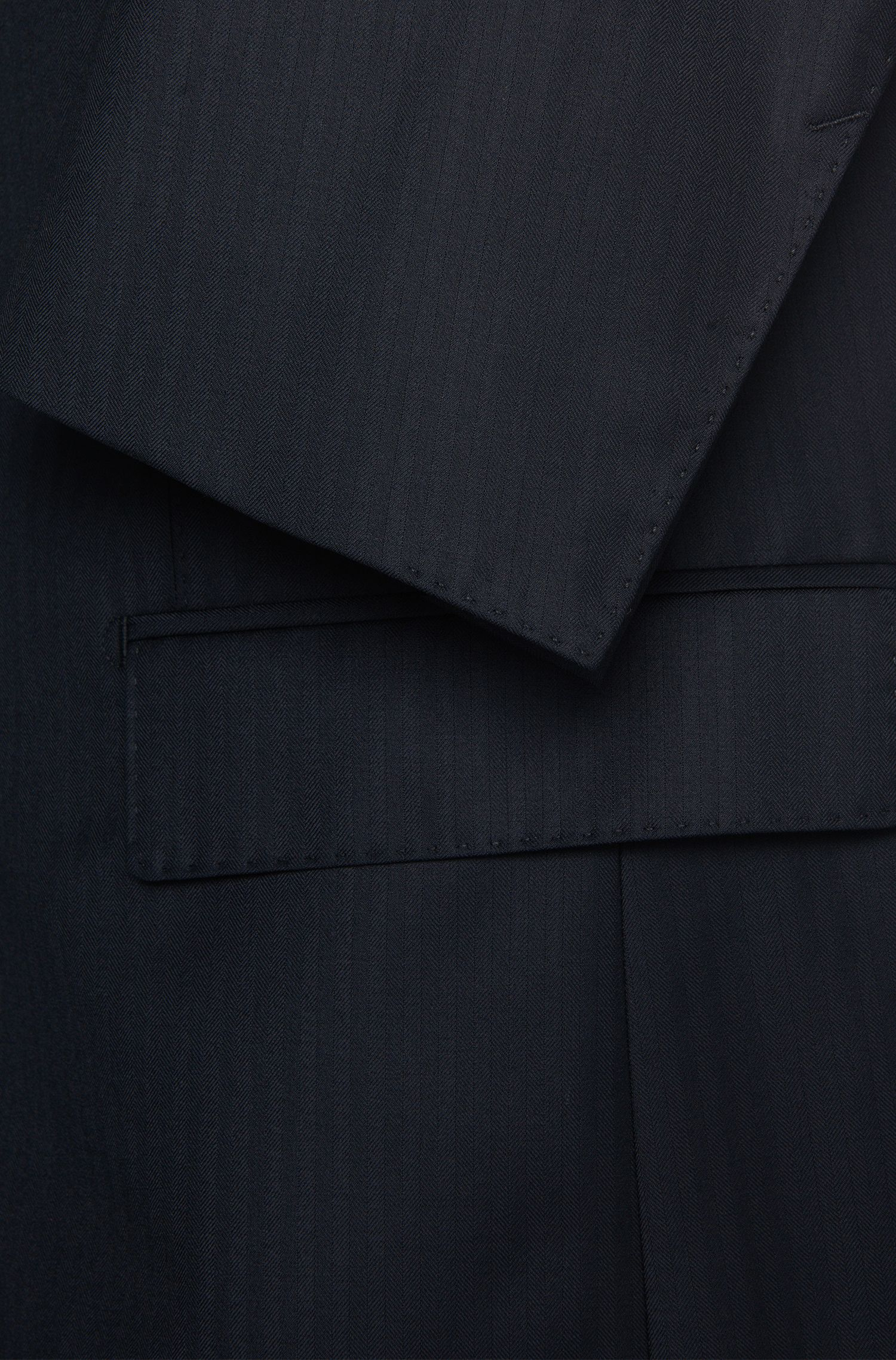 Costume Slim Fit à rayures, en laine vierge mélangée, avec de la soie: «F-Jacksen/Lane»