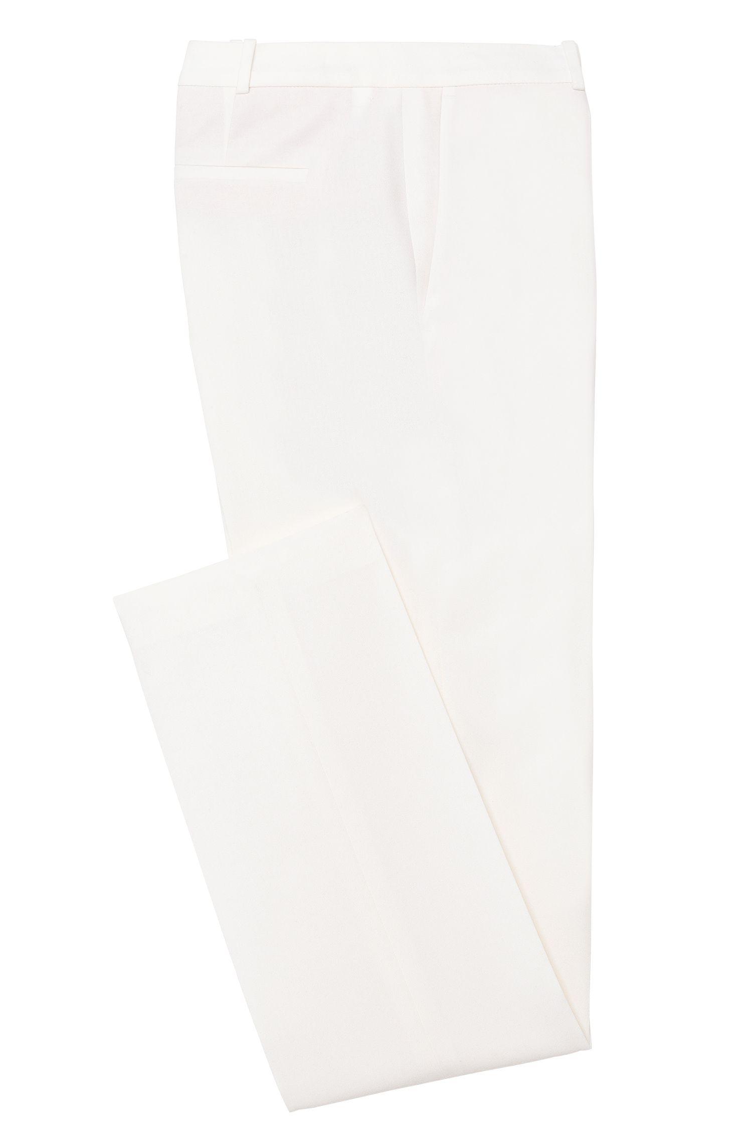 Pantalon Standard Fit en laine vierge stretch avec plis de repassage: «Tamea!»