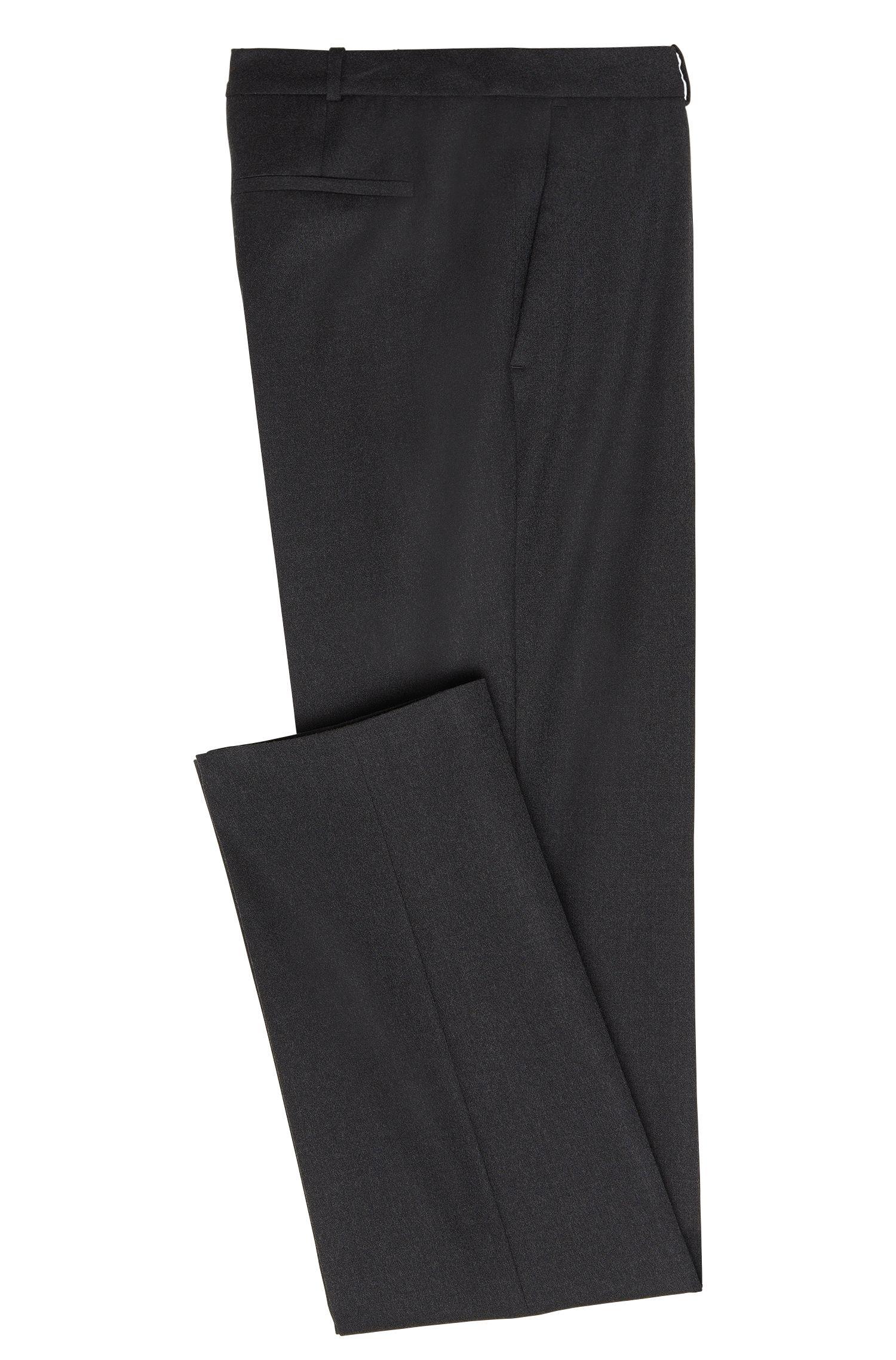 Standard-fit broek van scheerwol met stretch: 'Tamea1'